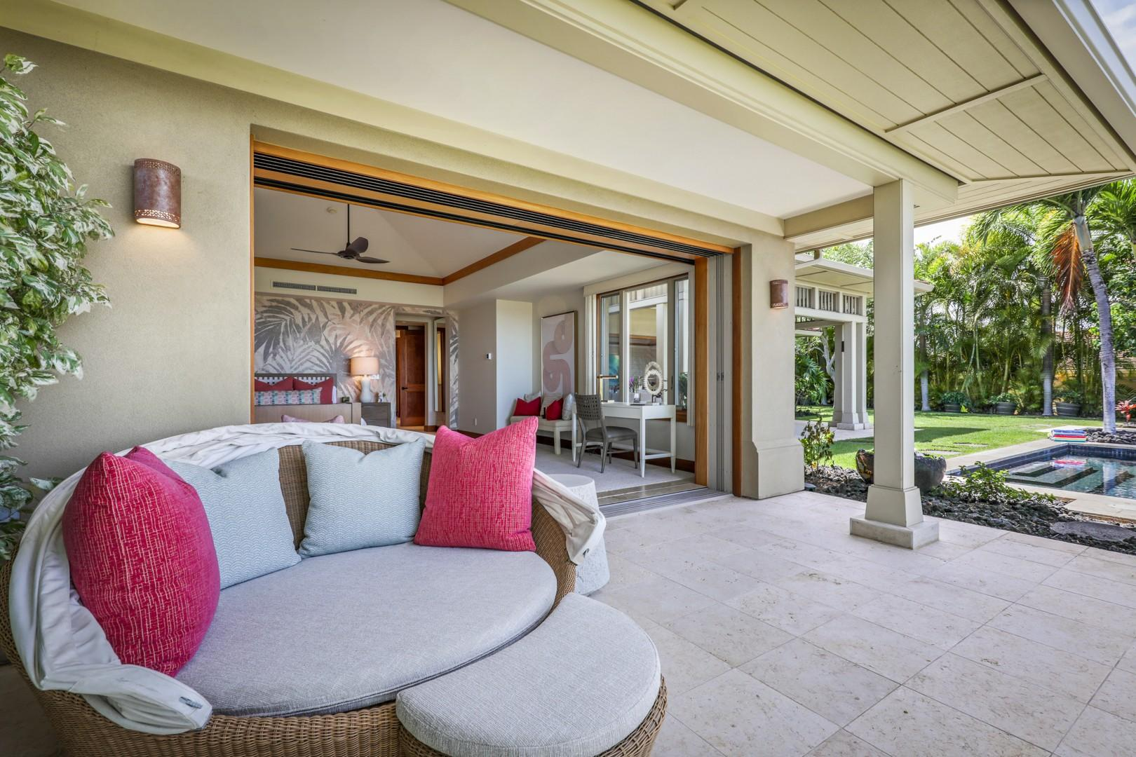 Master suite lanai with daybed for those luxurious lazy afternoons.