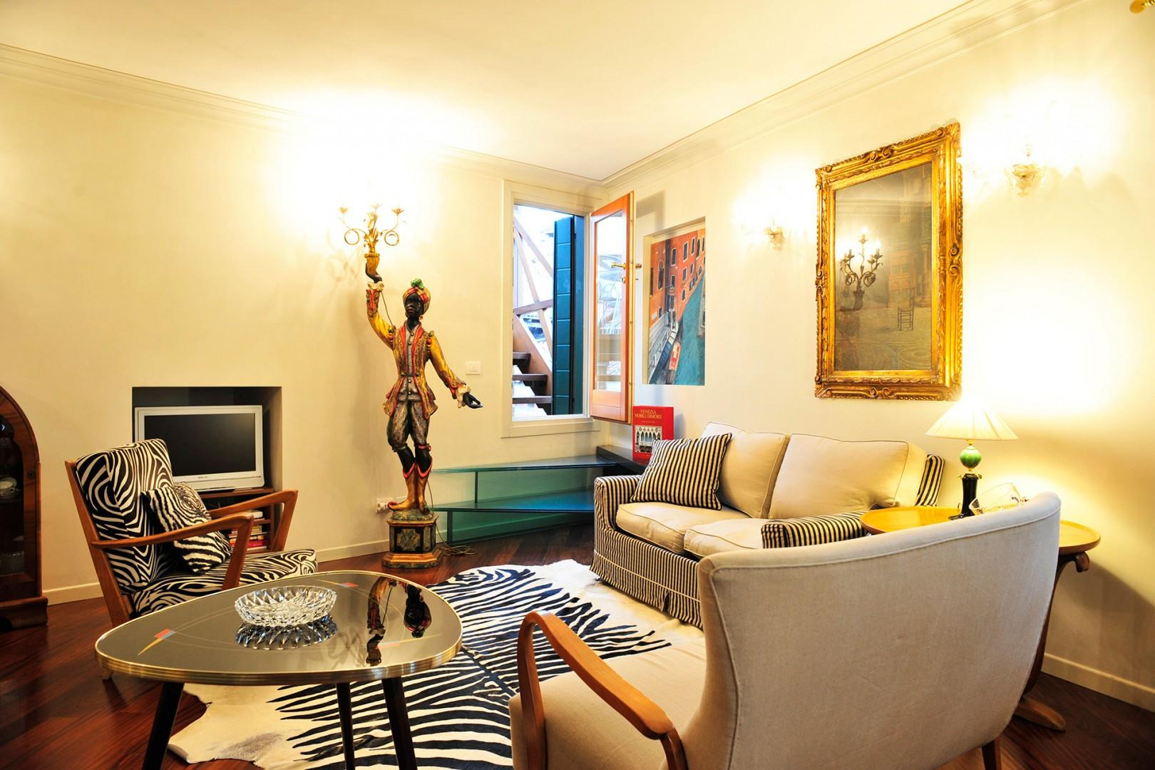 Eclectic decorating echoes Venice's former domination of the Mediterranean trade route.
