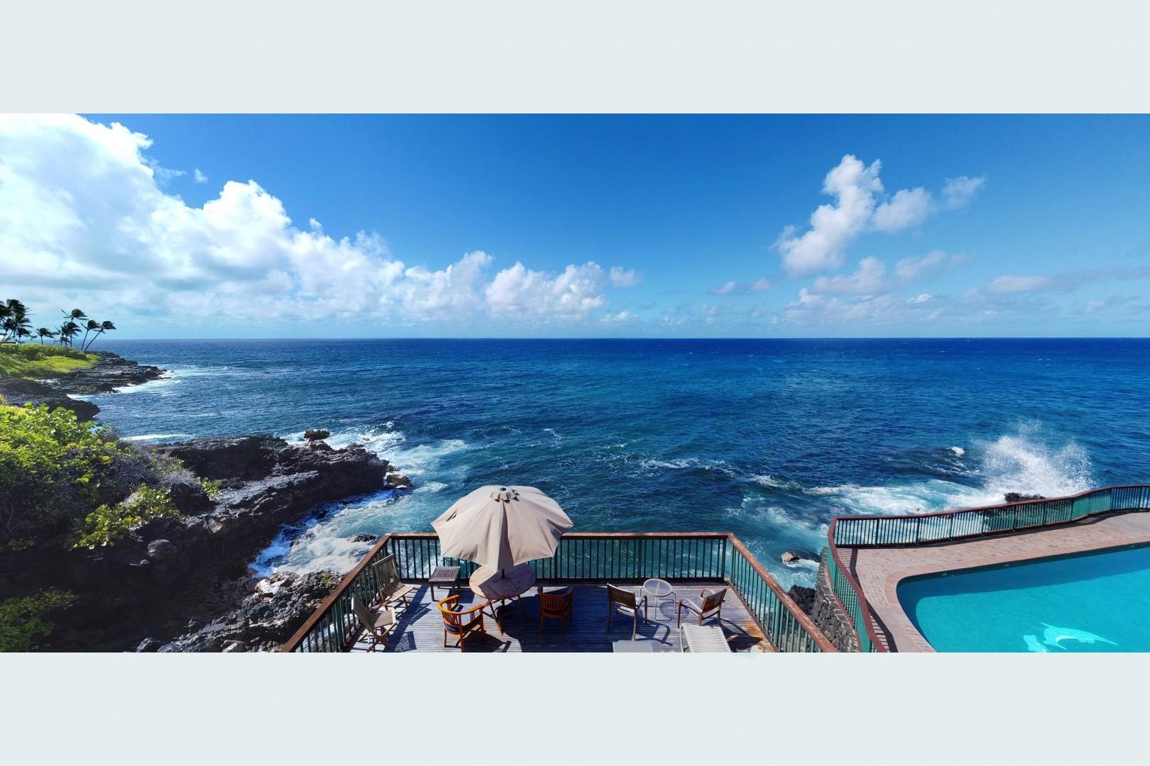 Beautiful ocean view from lanai