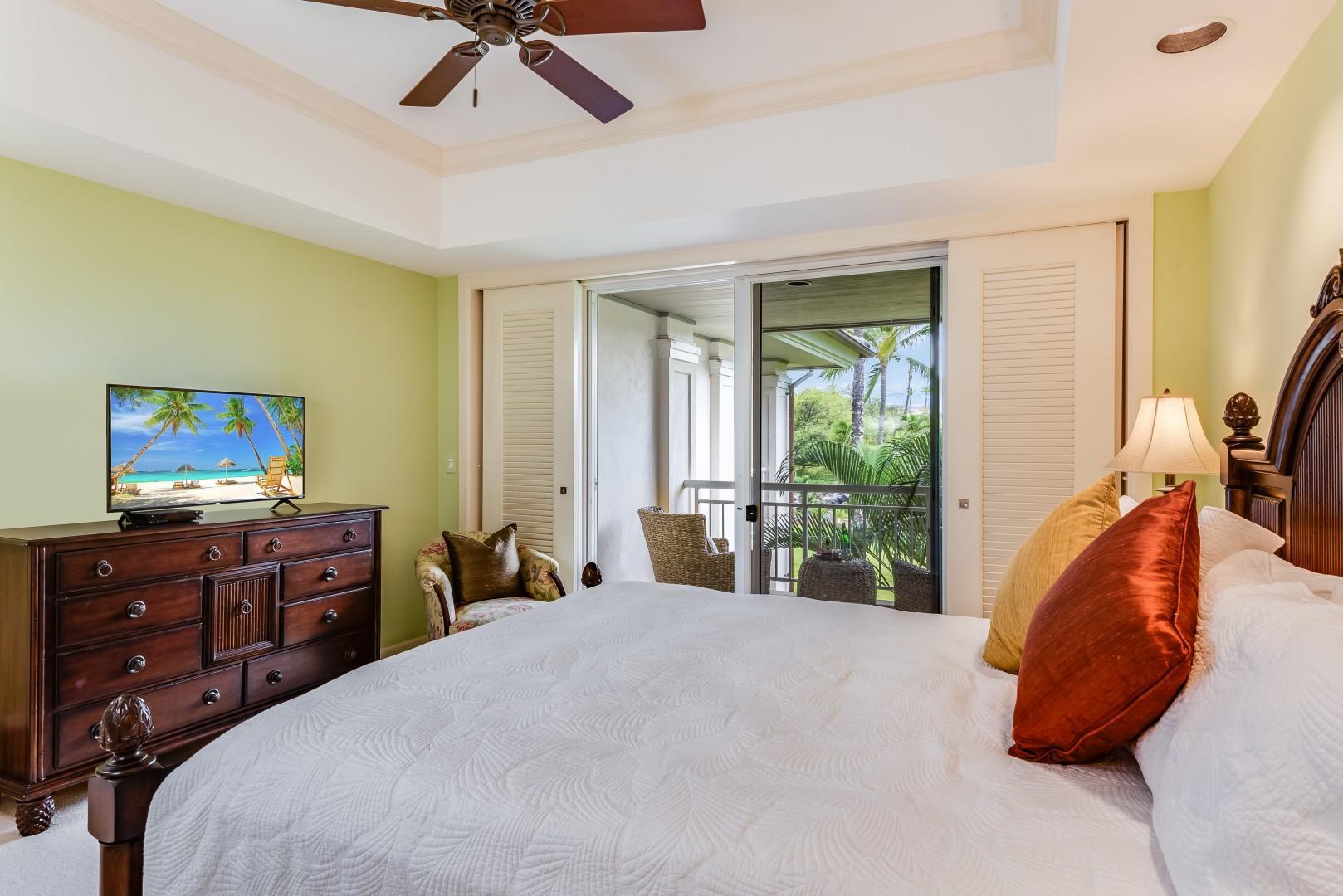Second Bedroom Features Private Lanai and Smart TV