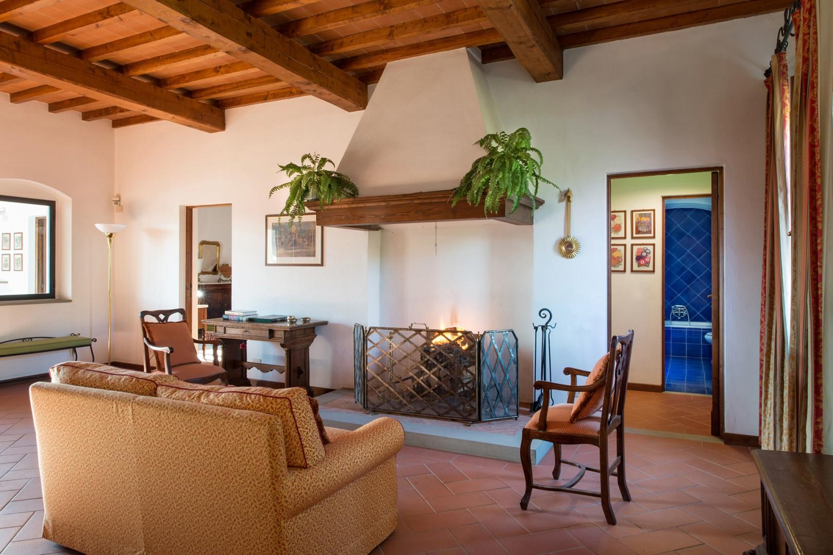 Den on the second floor provides ample rooms for socializing or a place for kids to play.