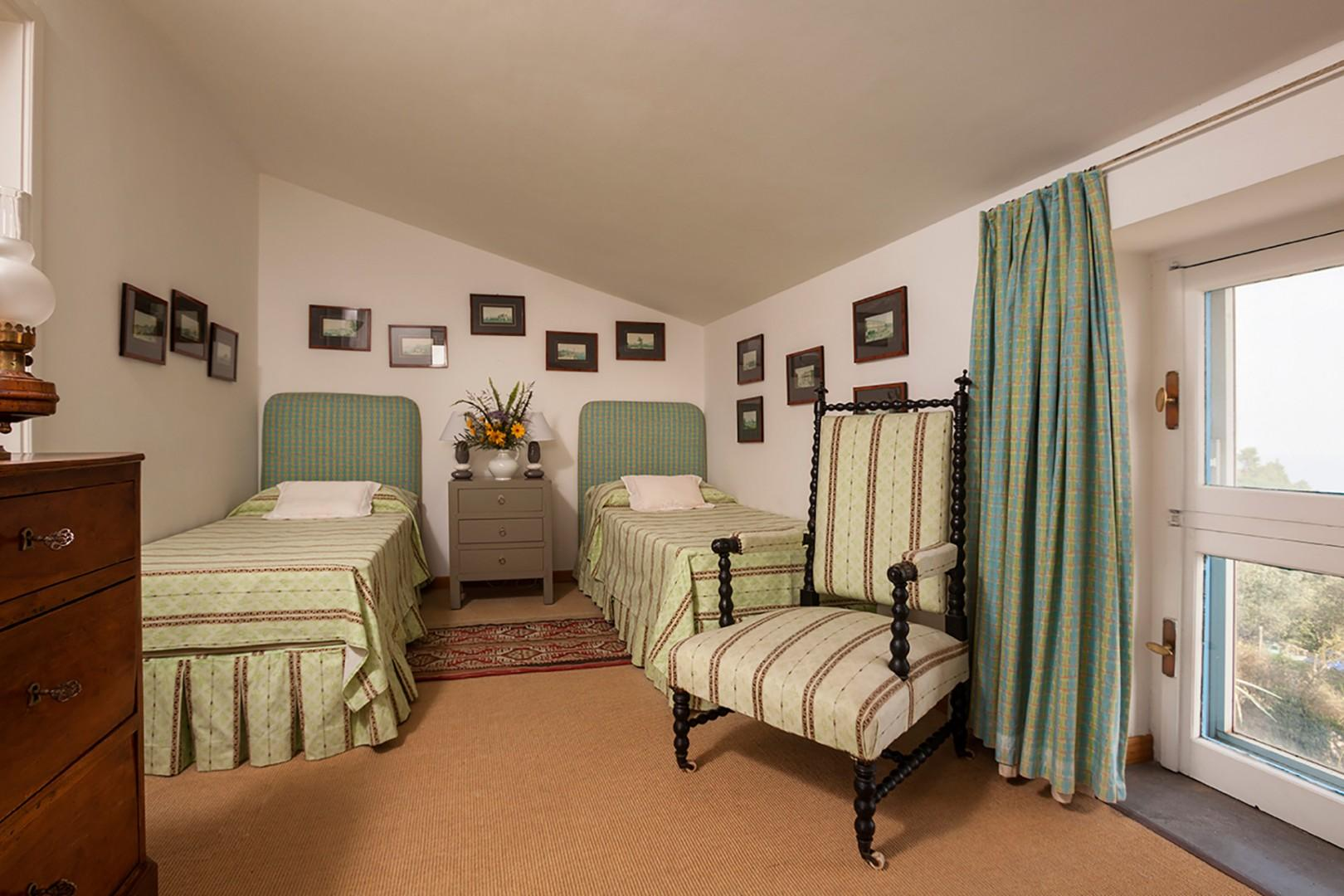 On the top floor, bedroom 4 can also be made up as one large bed or two beds.