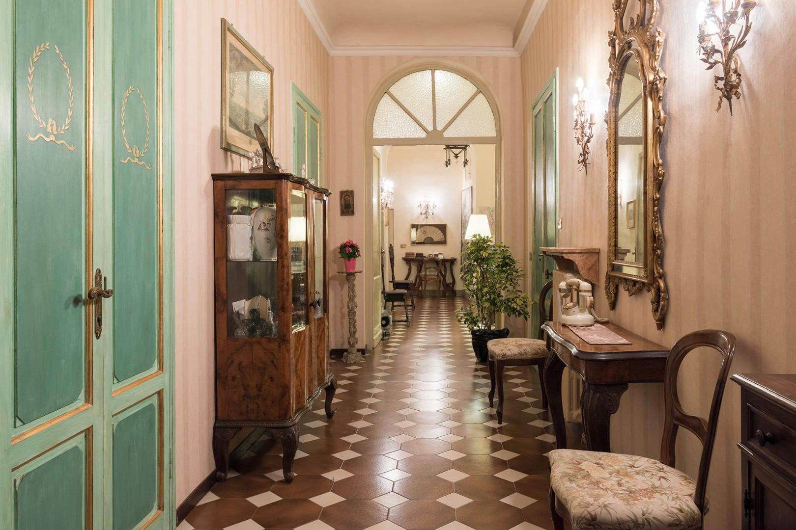 Beautiful private hallway leading to the Strozzi apartment.