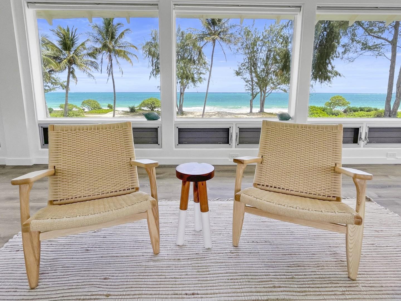 Living room - Ocean blues views rom corner to corner!