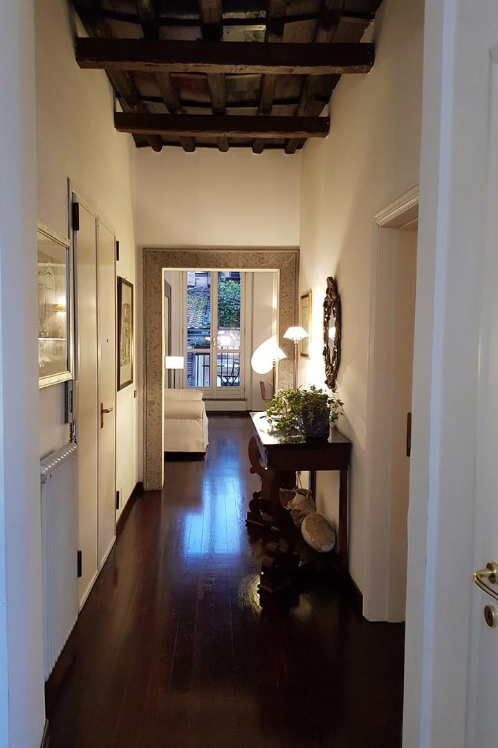 View from the entry to the living room.