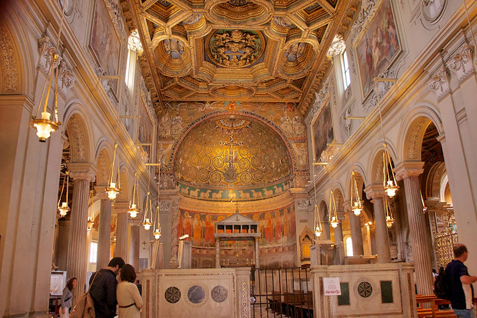 The cathedral of Saint Peter in Chains is around the corner.