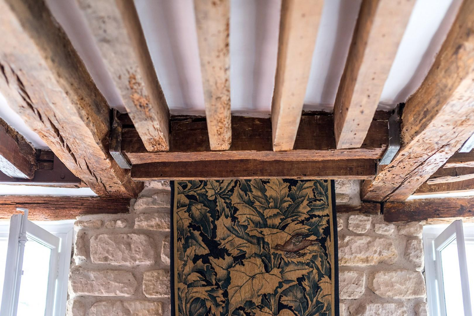 You will love the gorgeous oak beams in the living room.