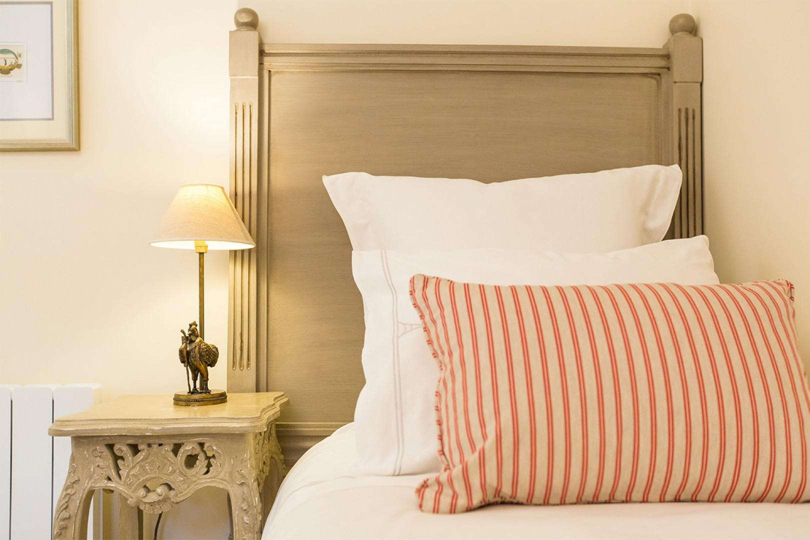 Enjoy the luxurious linens in all bedrooms.