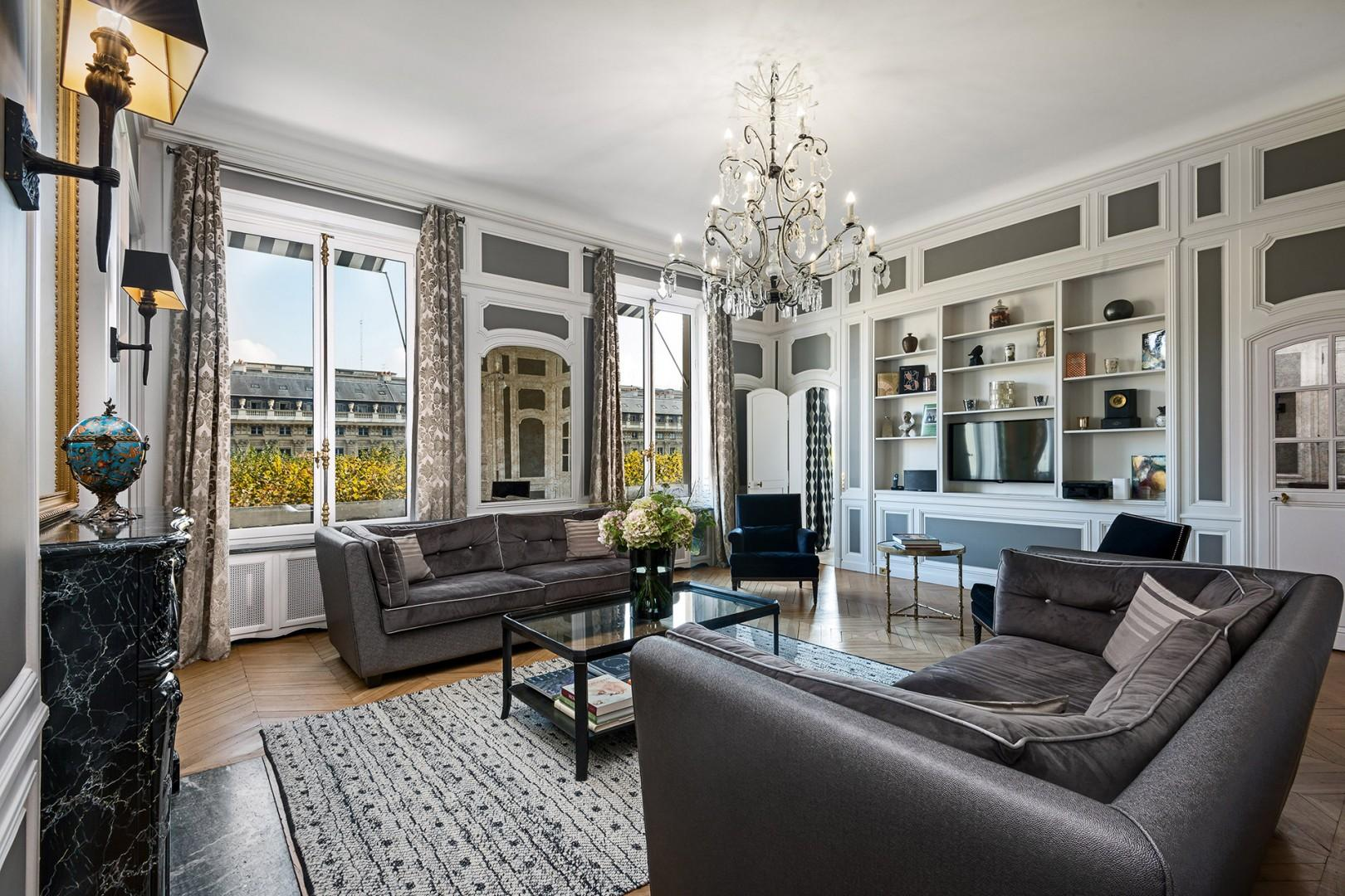 Welcome to the exquisite Chopine rental inside the iconic Palais-Royal!