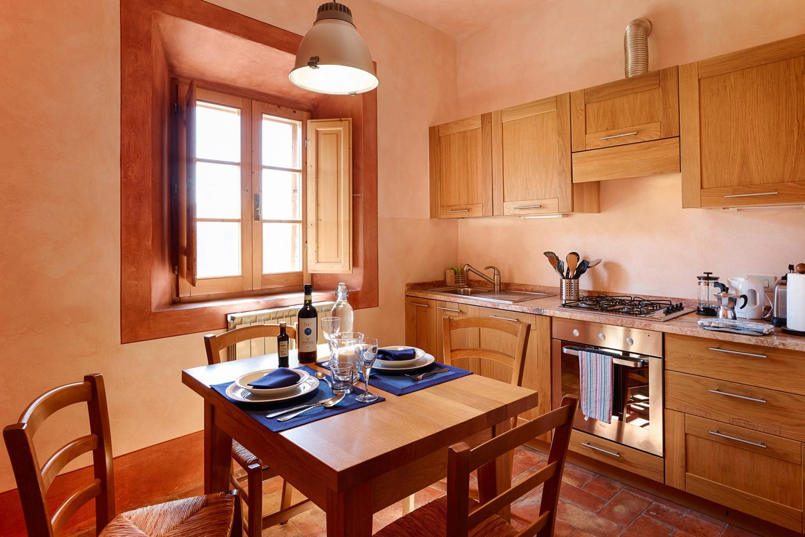 Full furnished eat-in kitchen.
