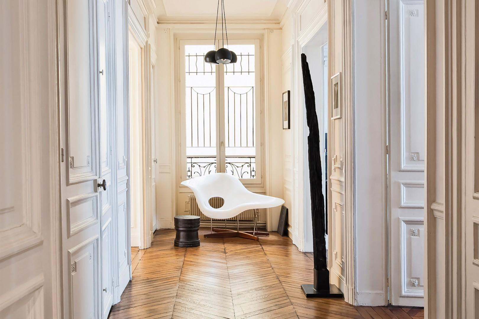 Enter through the elegant hallway.