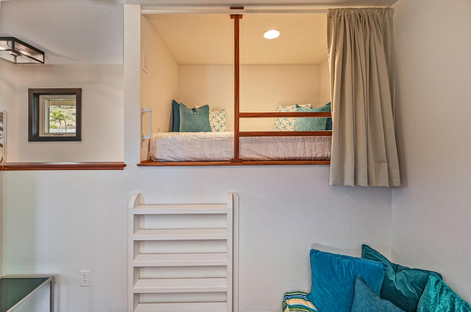 Second level loft space, a perfect kids getaway.