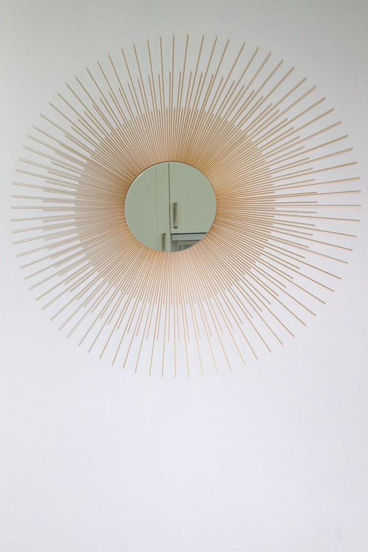 Copper mirror in the kitchen