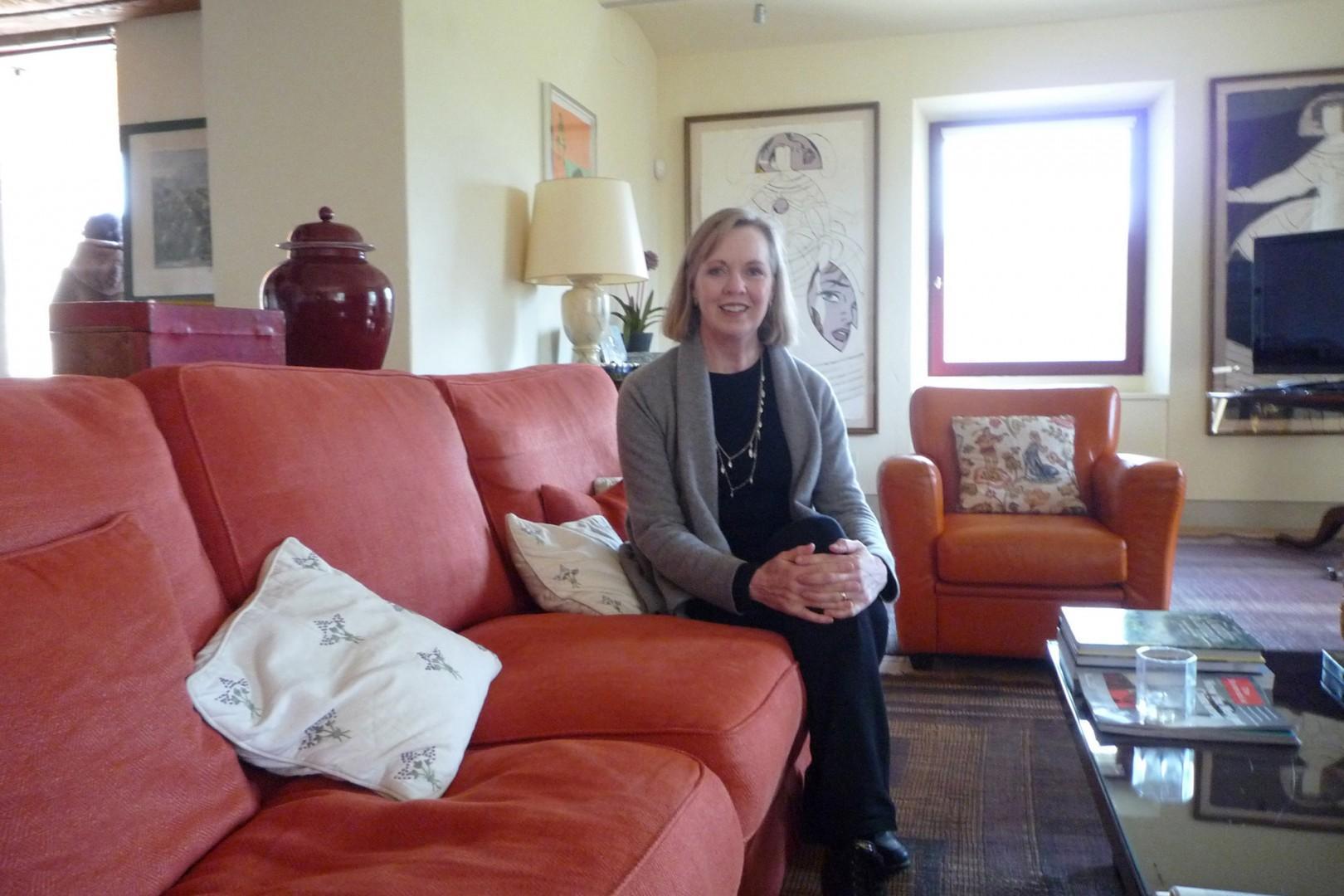 Here is Lisa, founder of Italy Perfect, personally visiting Villa Landolfo.