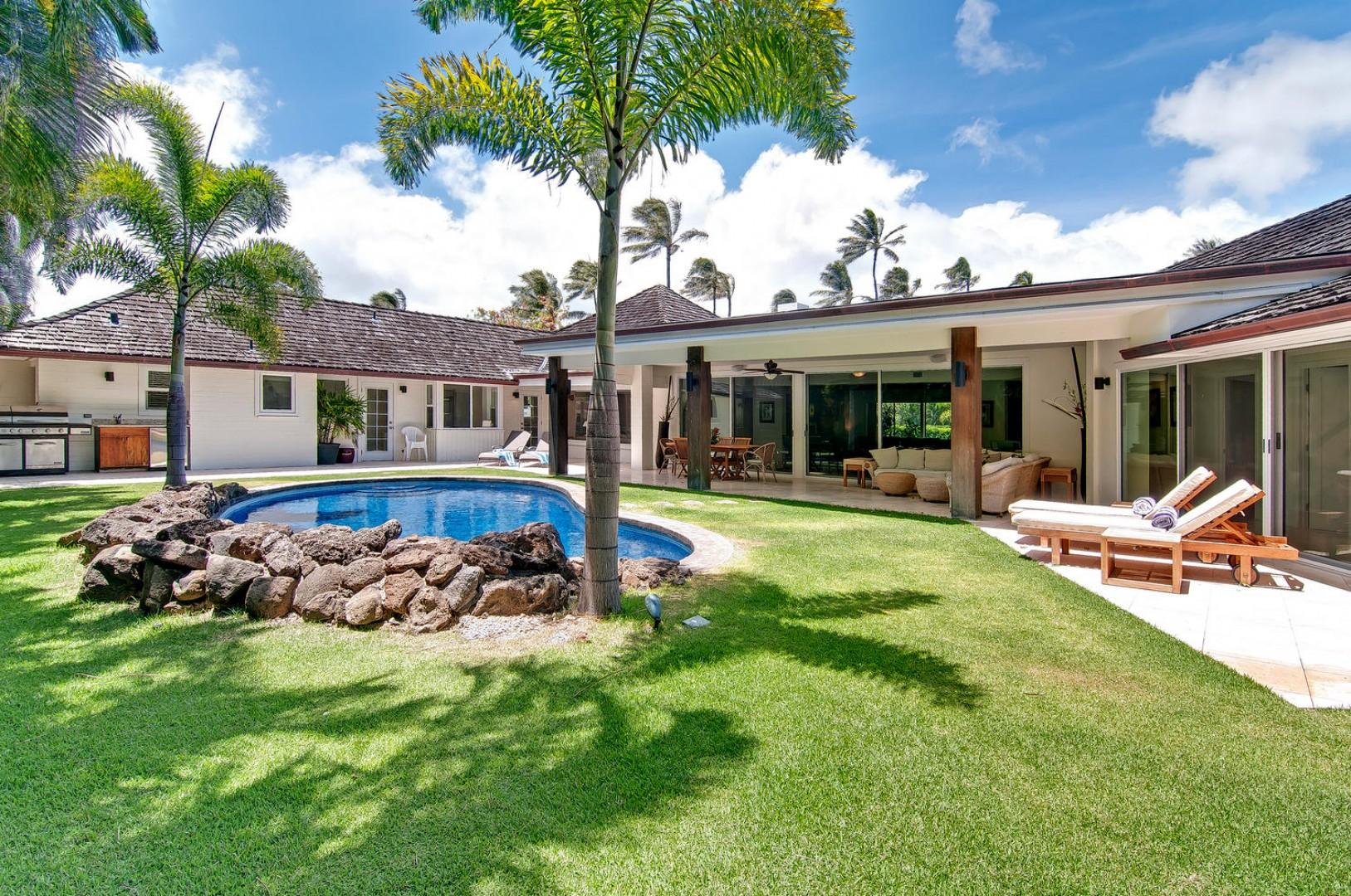 Luxurious Back Yard with Views of the Golf Course