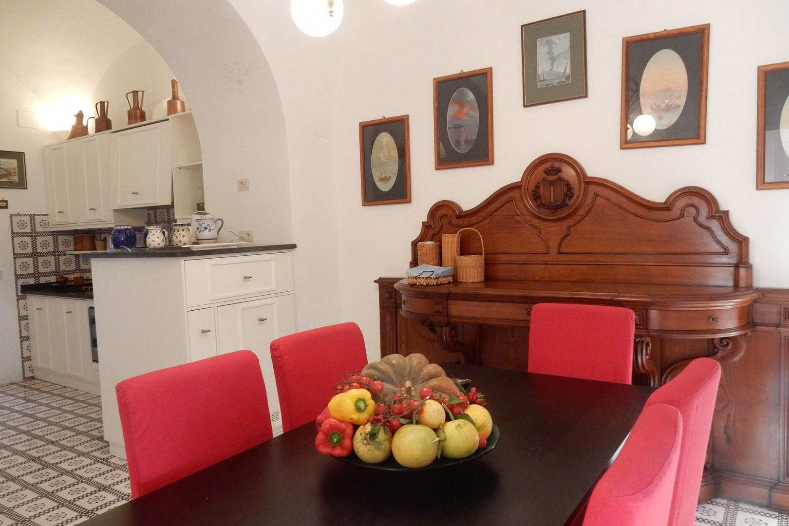 Dining room off the kitchen seats 6.