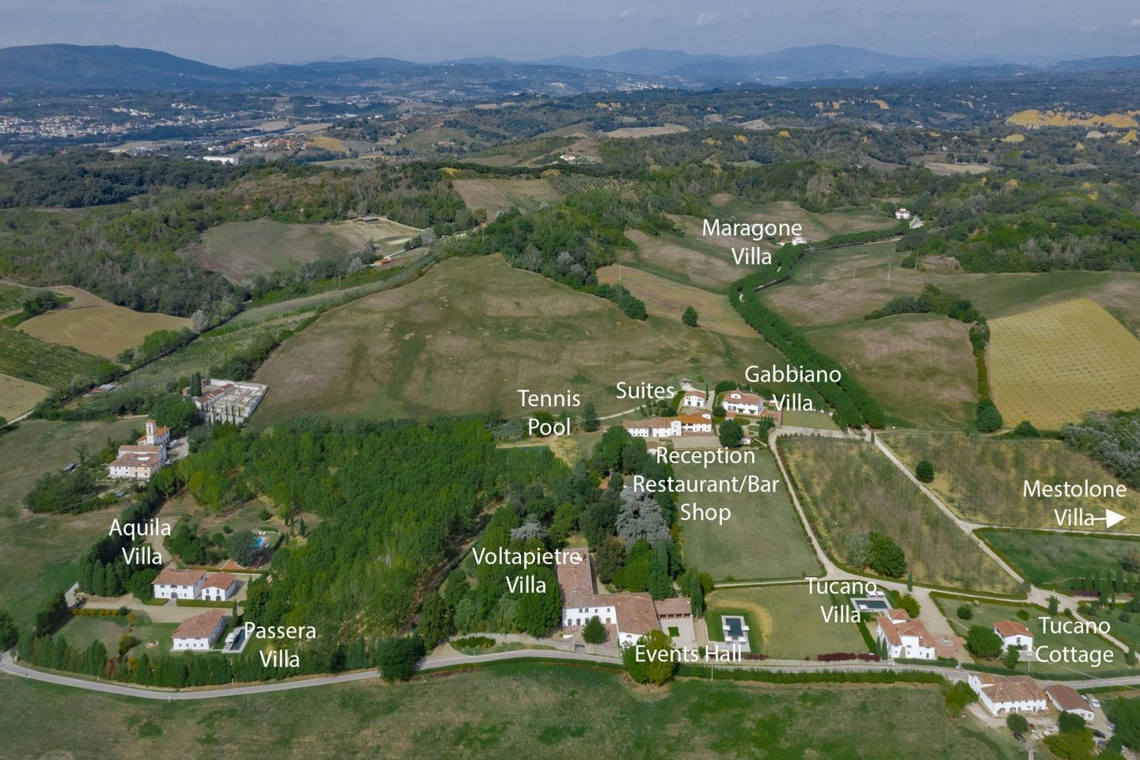 Vecchietto Estate landscape.
