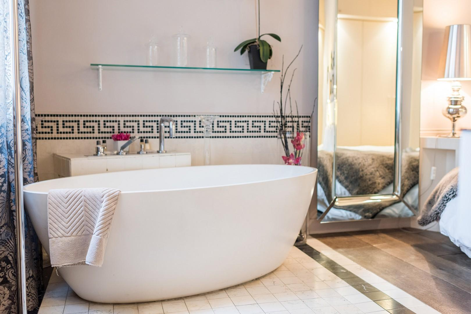 Spoil yourself with a relaxing bath after a long day exploring Paris.