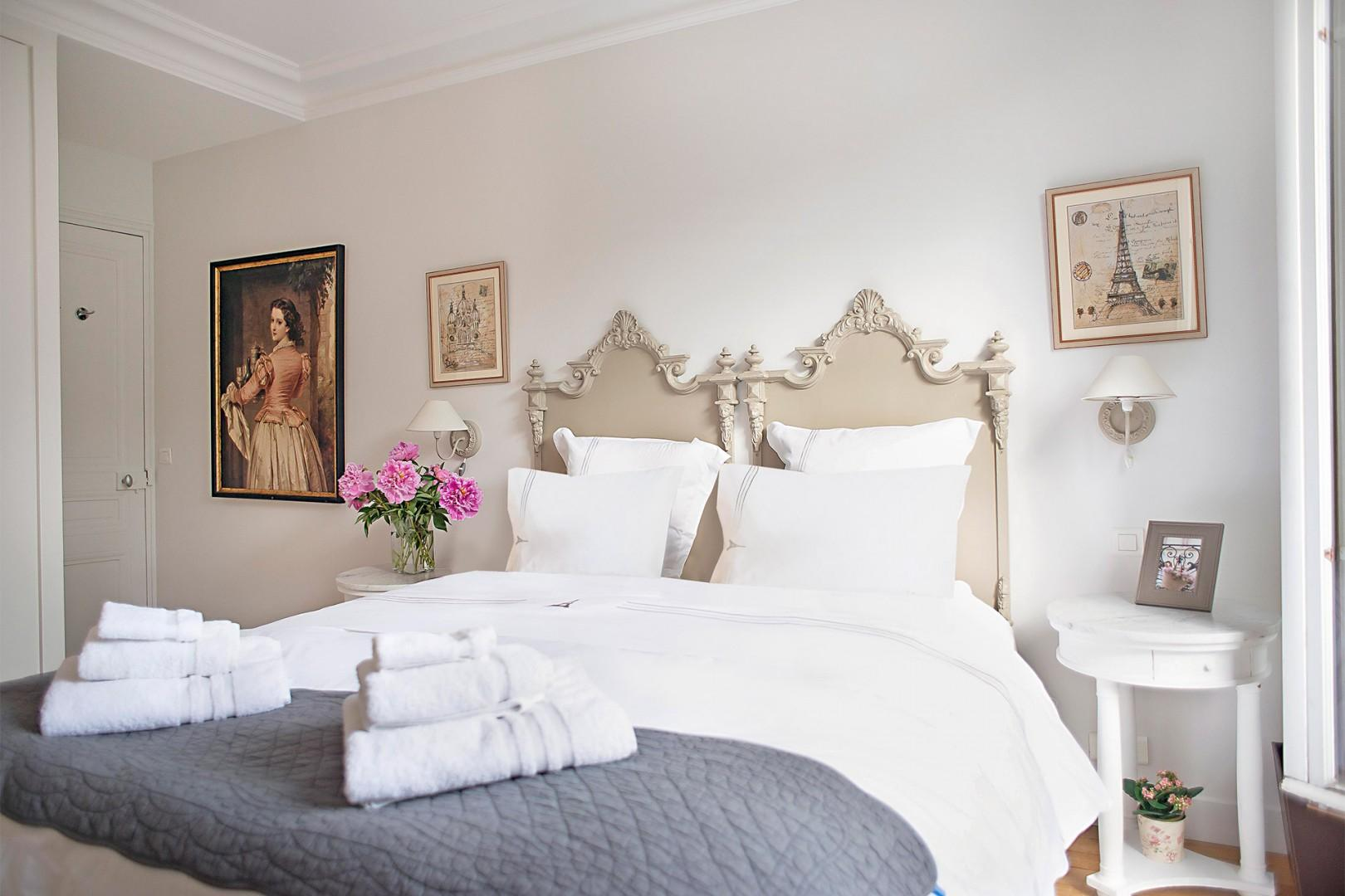 The elegant French décor truly makes you feel like you're in Paris.