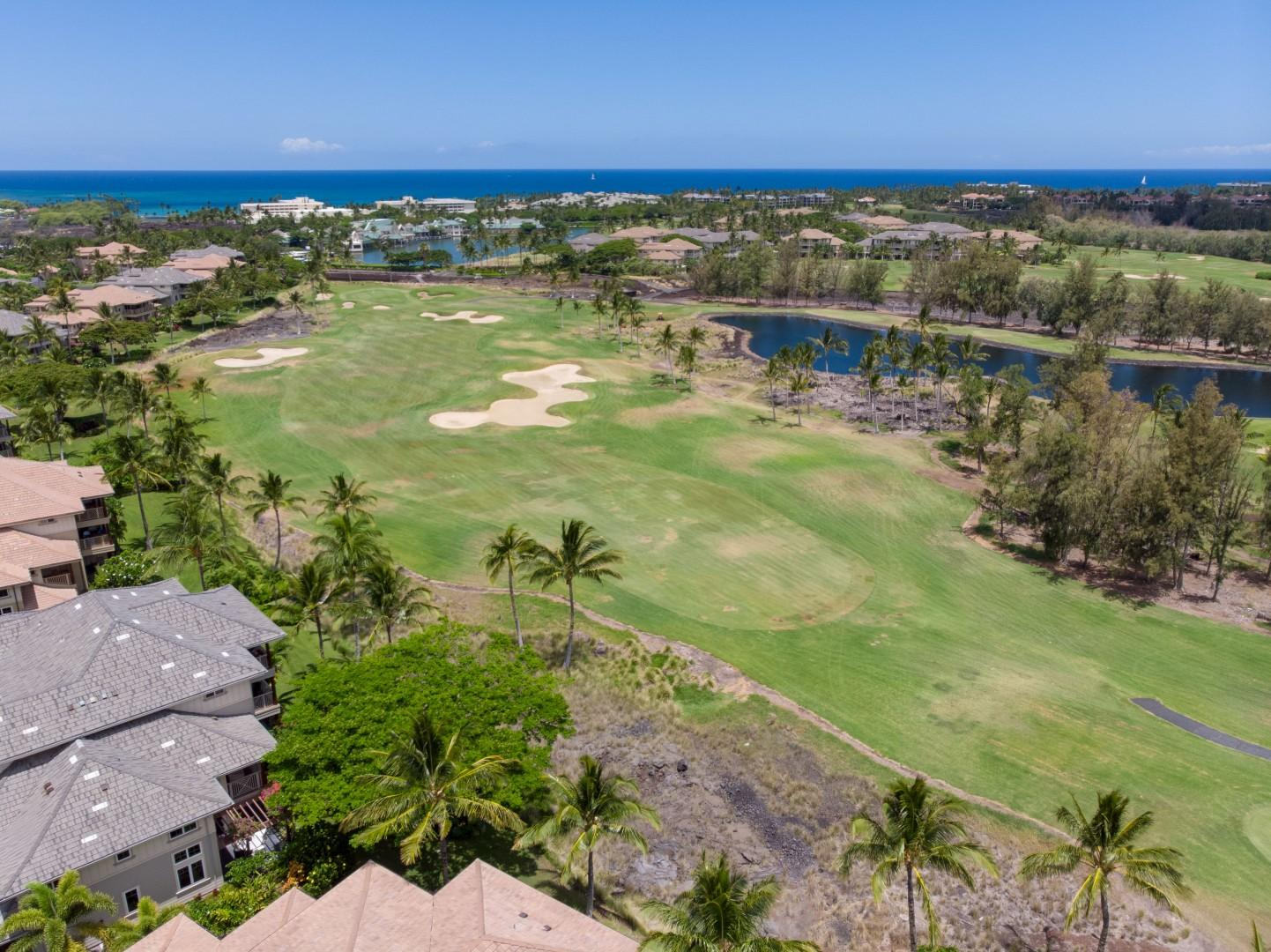 Aerial View of the King's Golf Course Bordering the Complex
