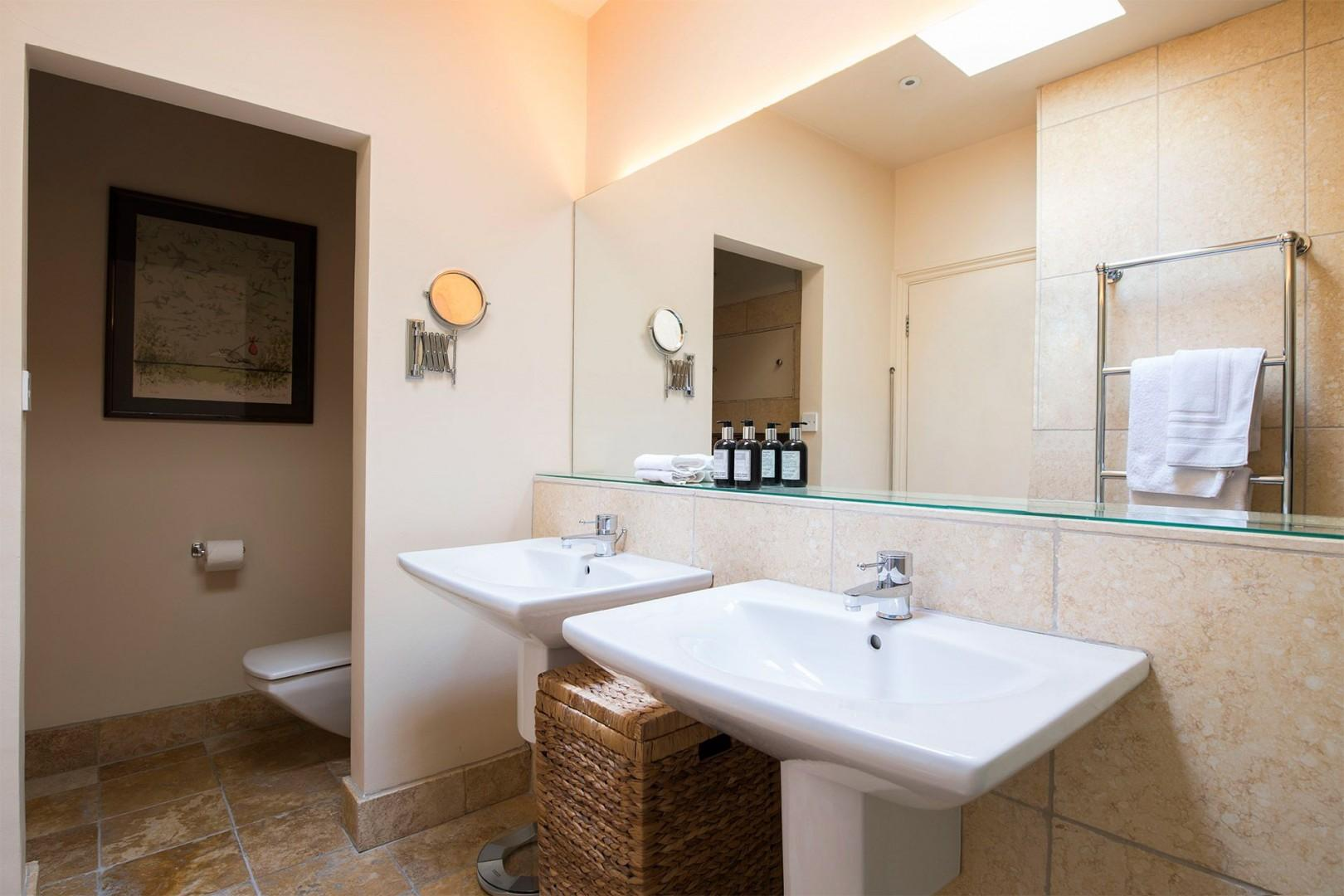 First bathroom with private toilet in the Prince Albert vacation rental