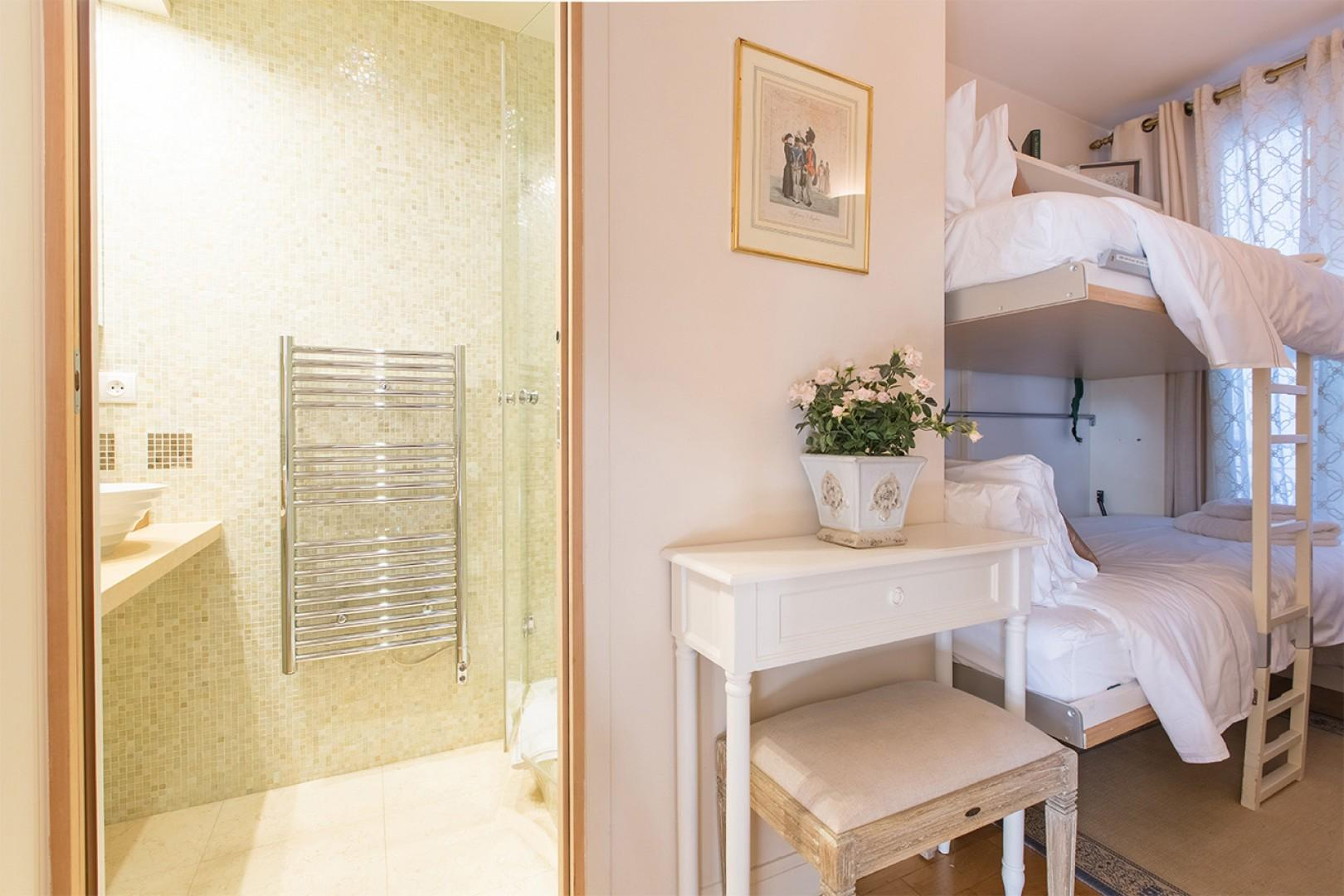 Bedroom 2 and adjacent bathroom 2
