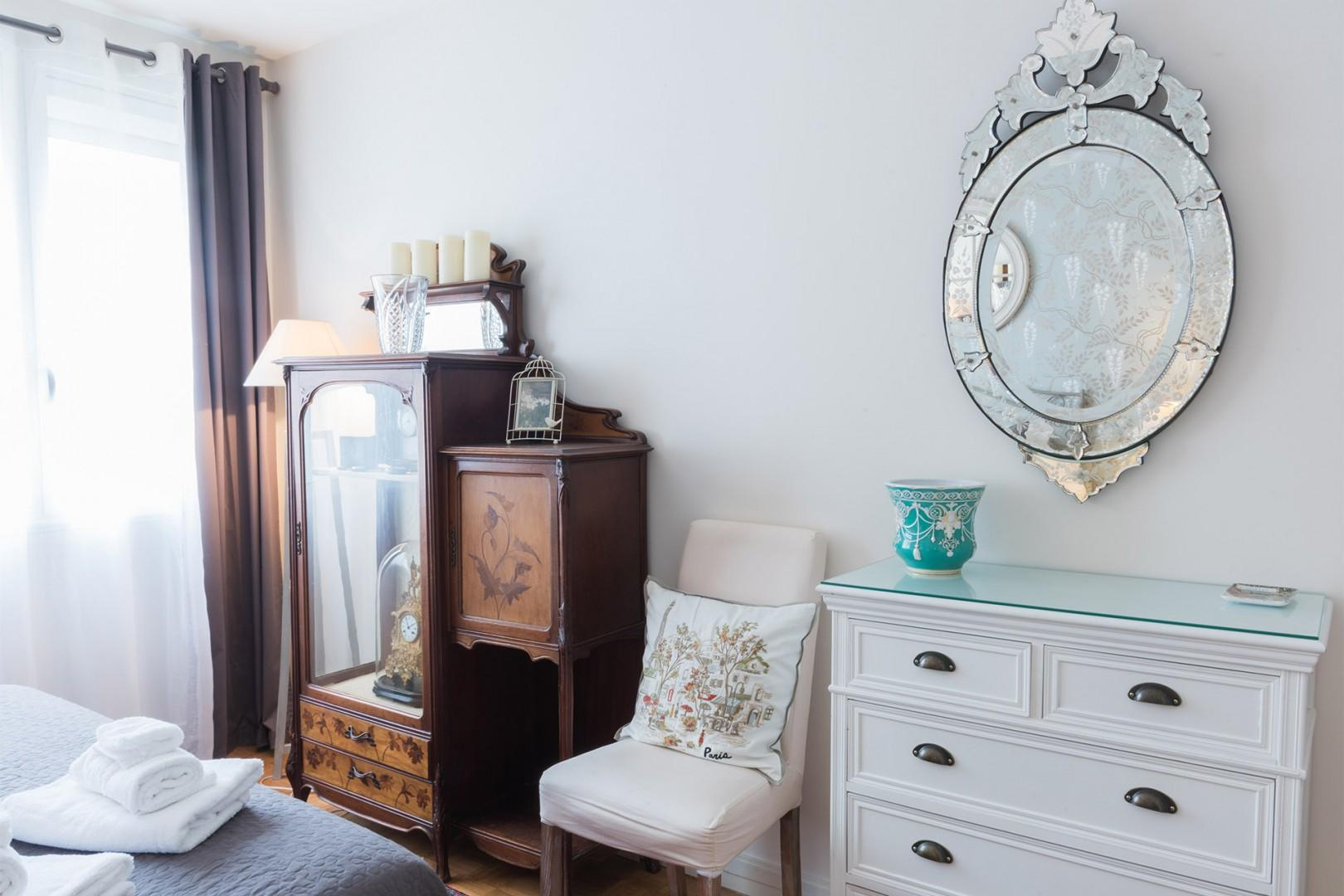Bedroom 1 has plenty of storage for your belongings.