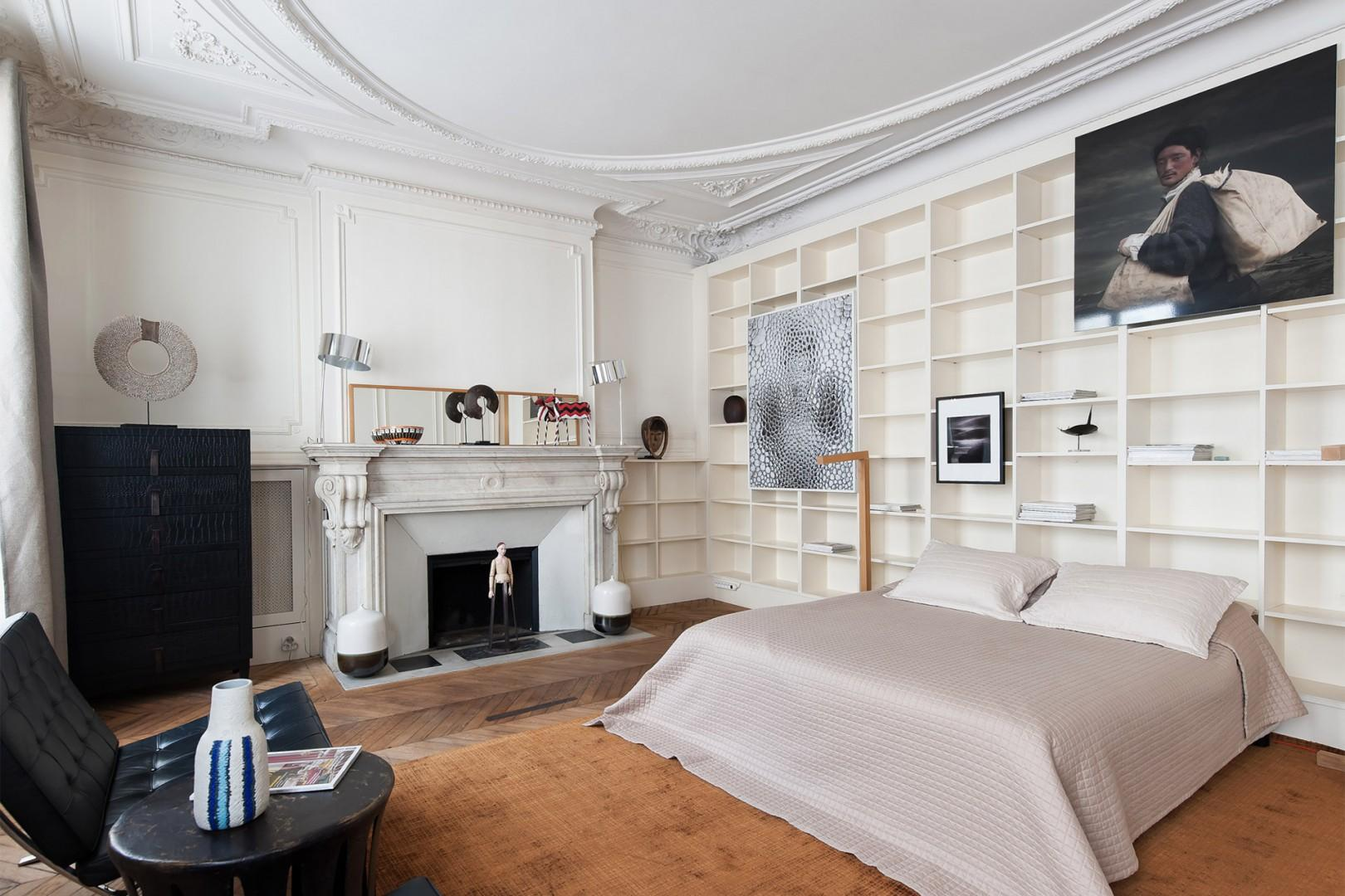 The stunning bedroom 2 has large French windows.