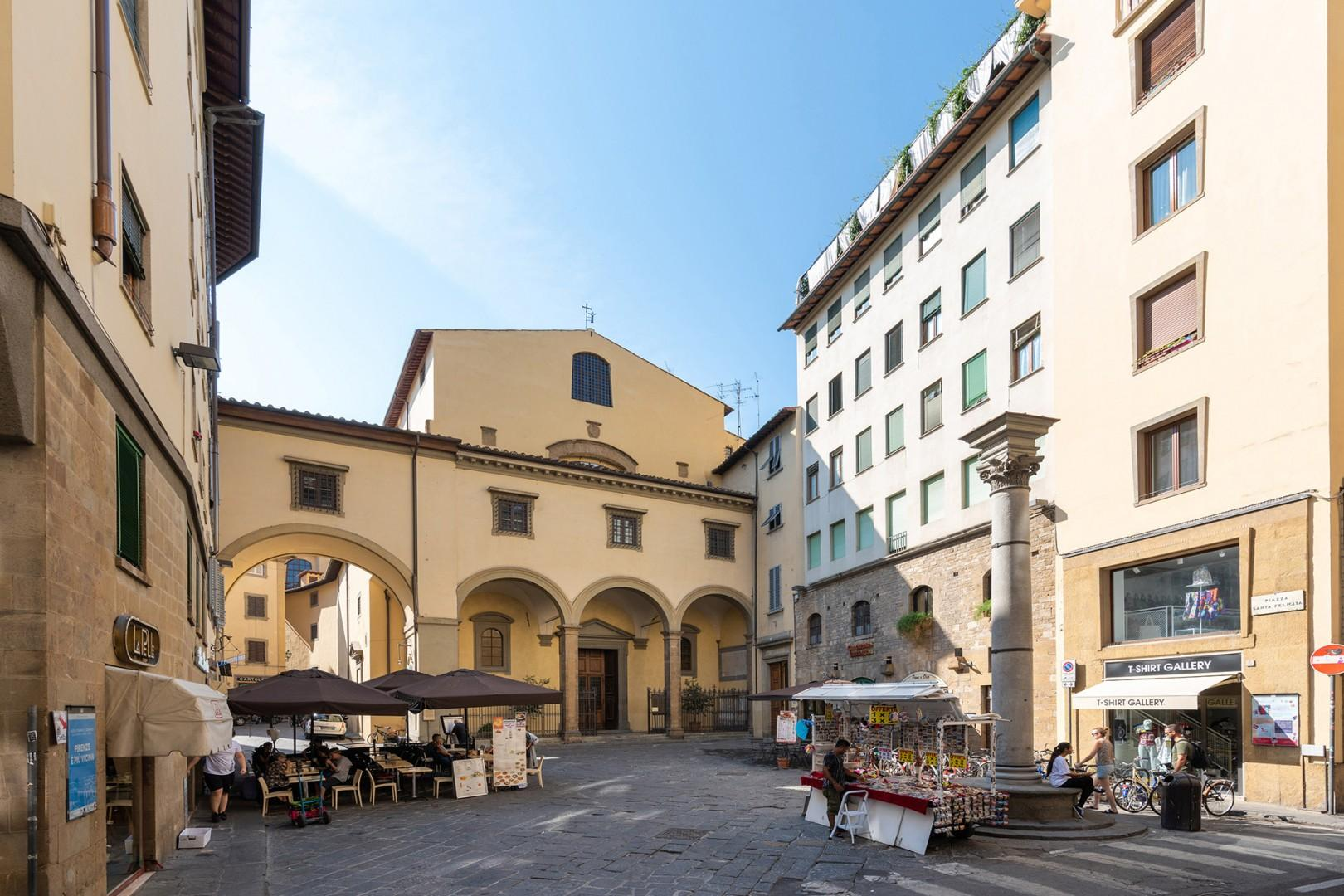Santa Felicita is one of the oldest churches in Florence. Enjoy its art and stories of the Medicis