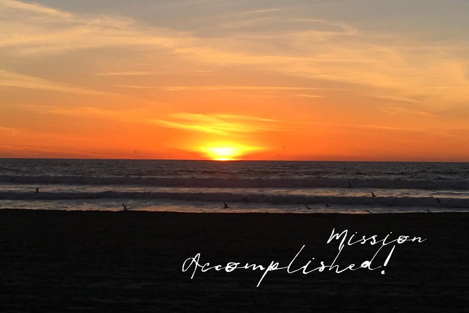 Sunset with Text