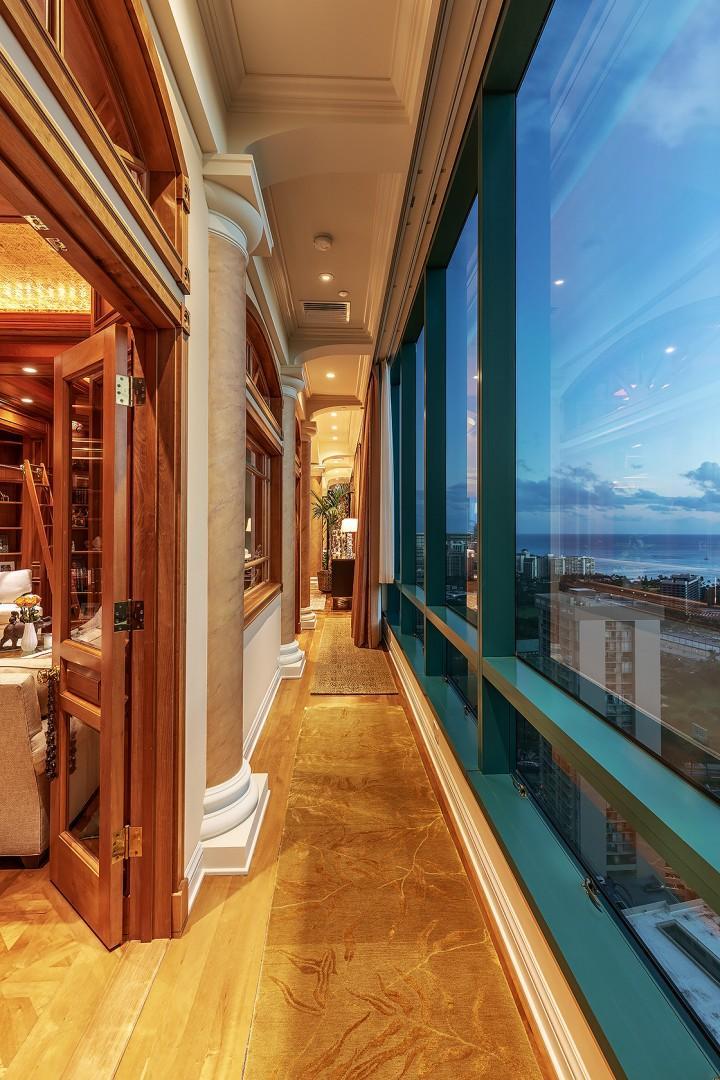 Hallway with Breathtaking Ocean Views