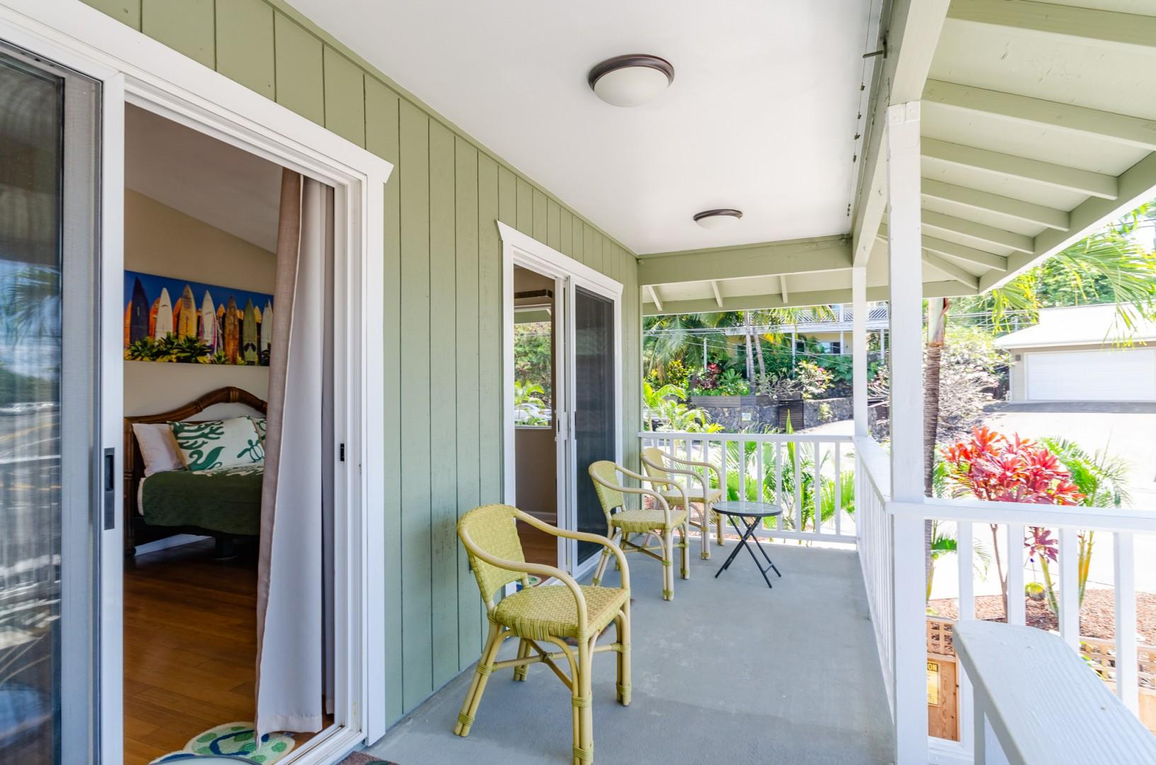 Catwalk Lanai outside of the Master bedroom