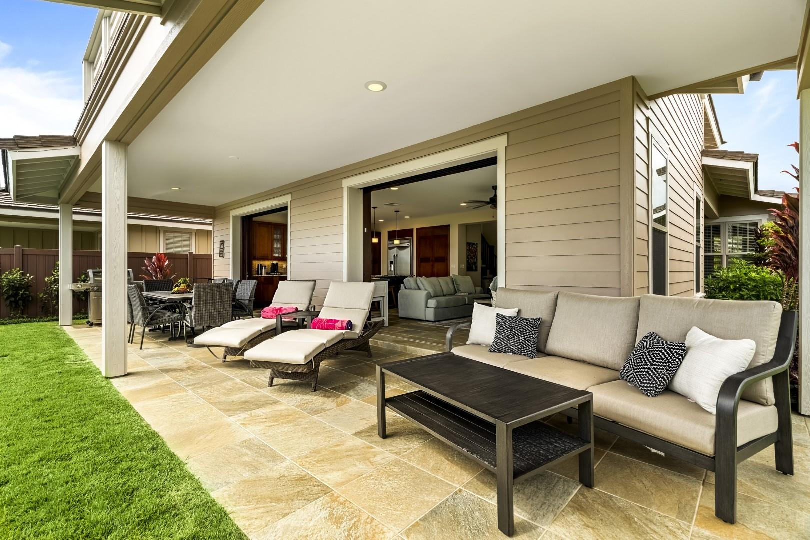 Outdoor seating options for guests to choose from