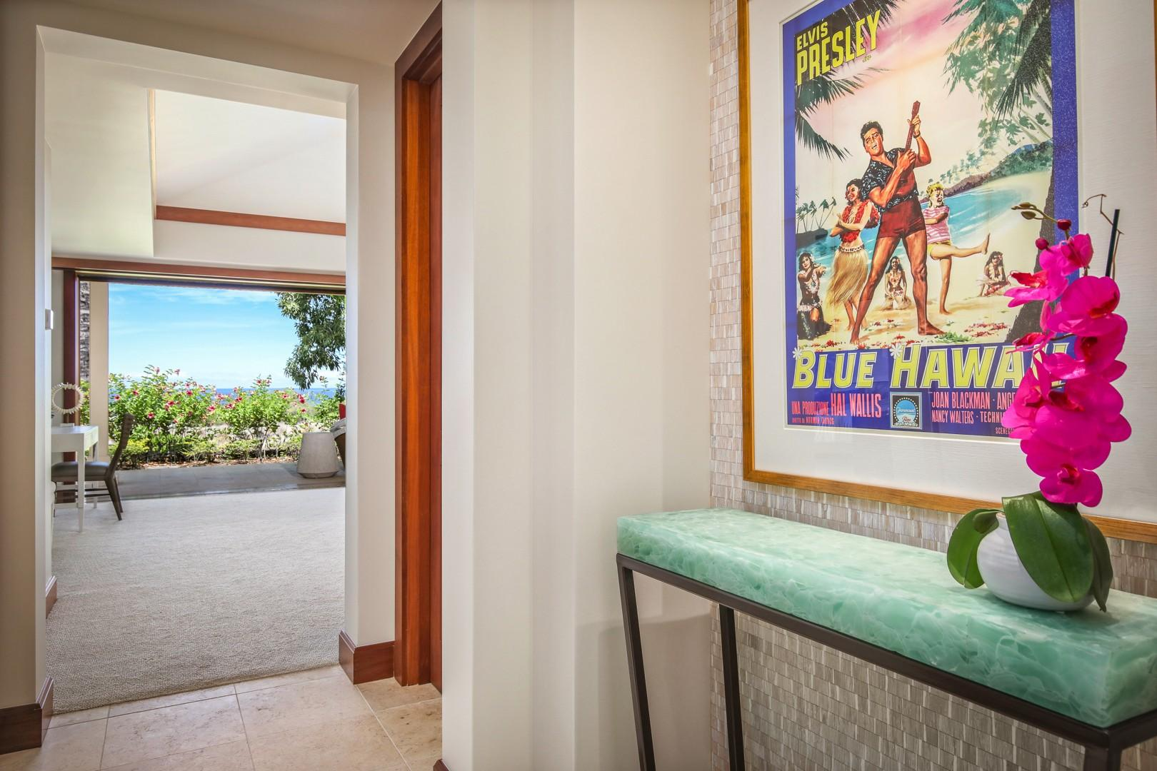 Entryway to the spectacular master bedroom suite.