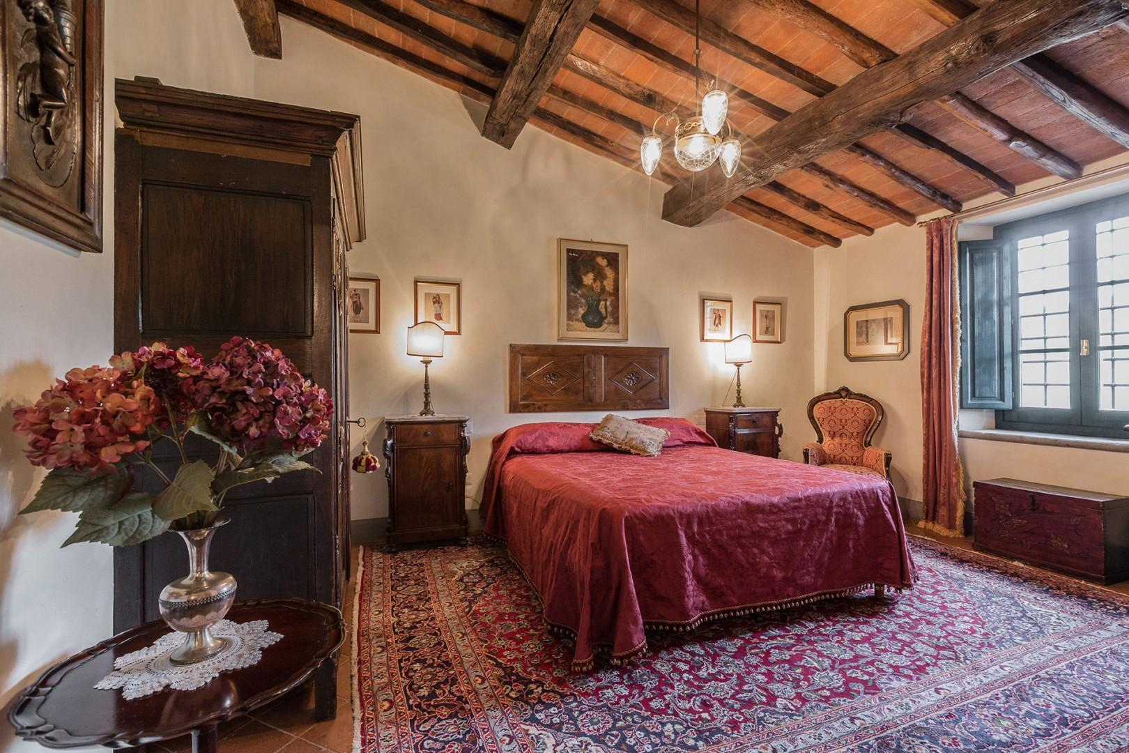 Bedroom 2 with beautiful antique furniture