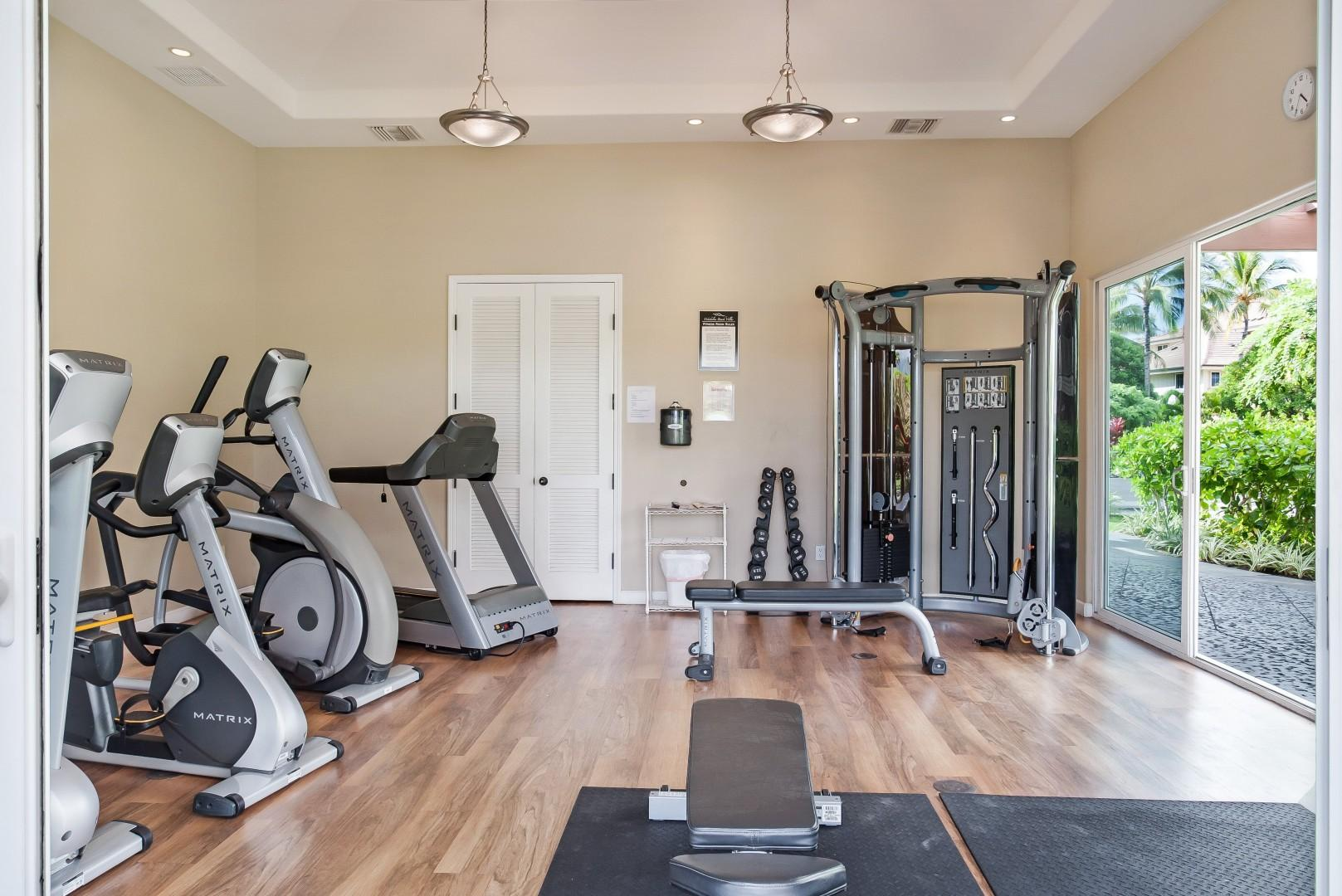 Fitness Center Next to Pool & Directly Across From Villa
