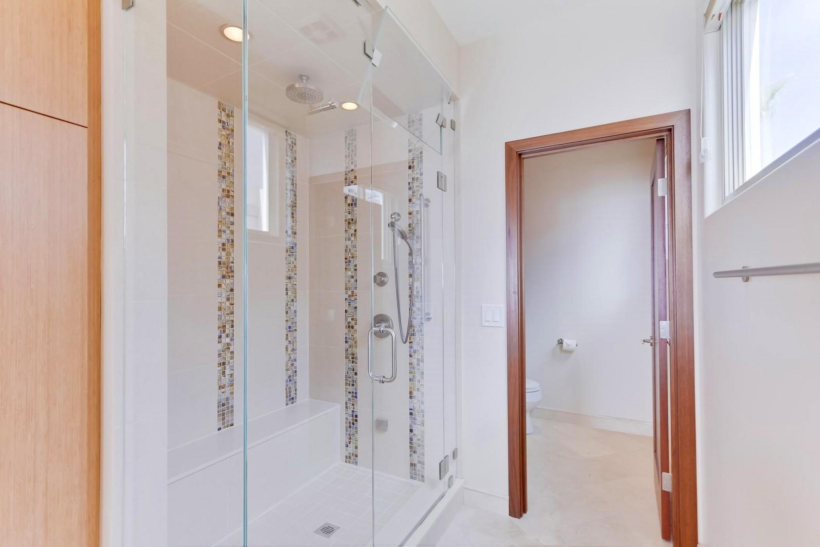 Over-sized walk-in shower