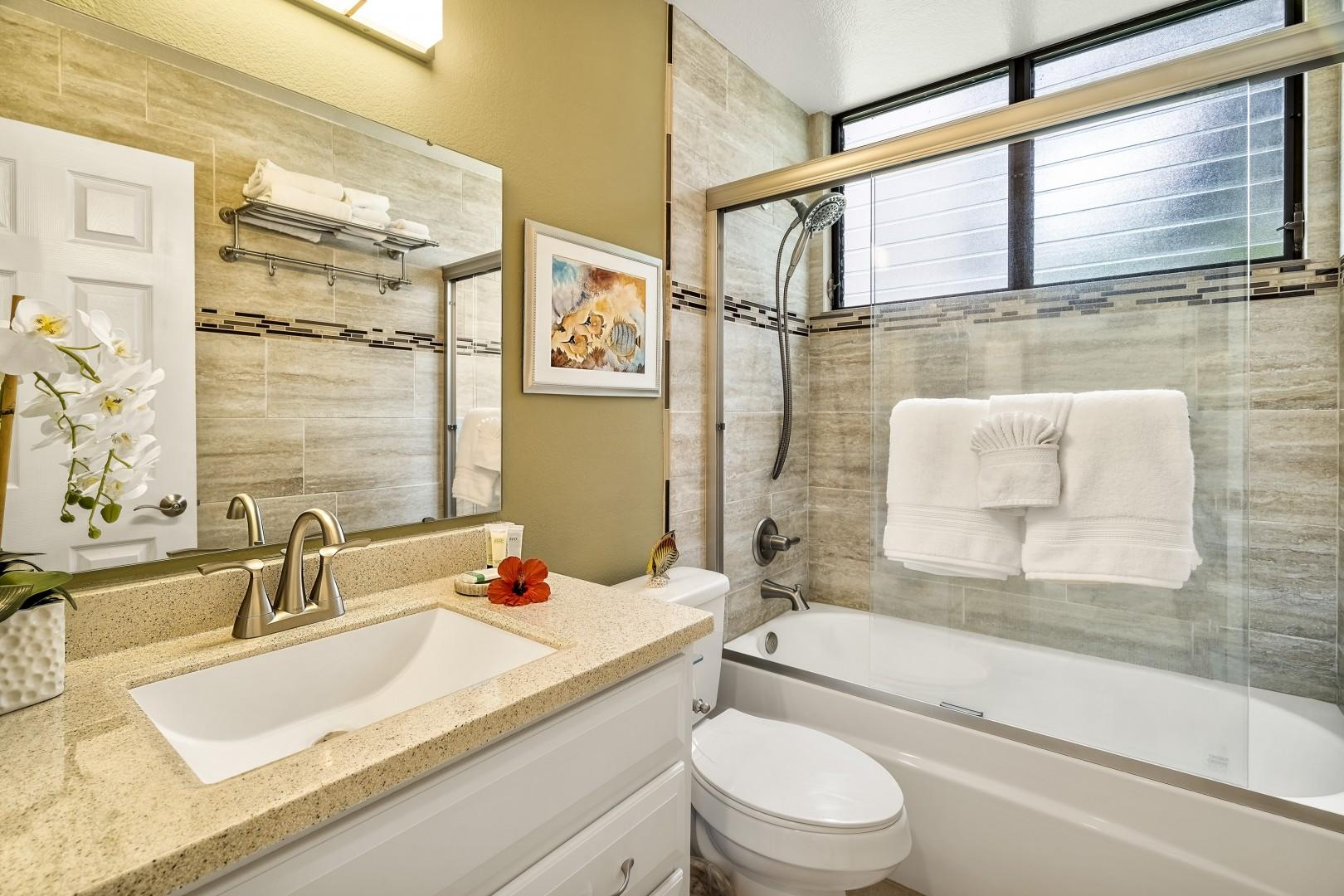 Fully renovated guest bathroom!