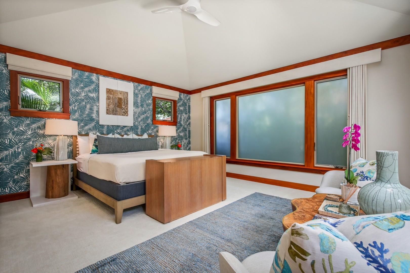 Guest Room 4 - a large master suite with a detached private entrance and its own kitchenette.