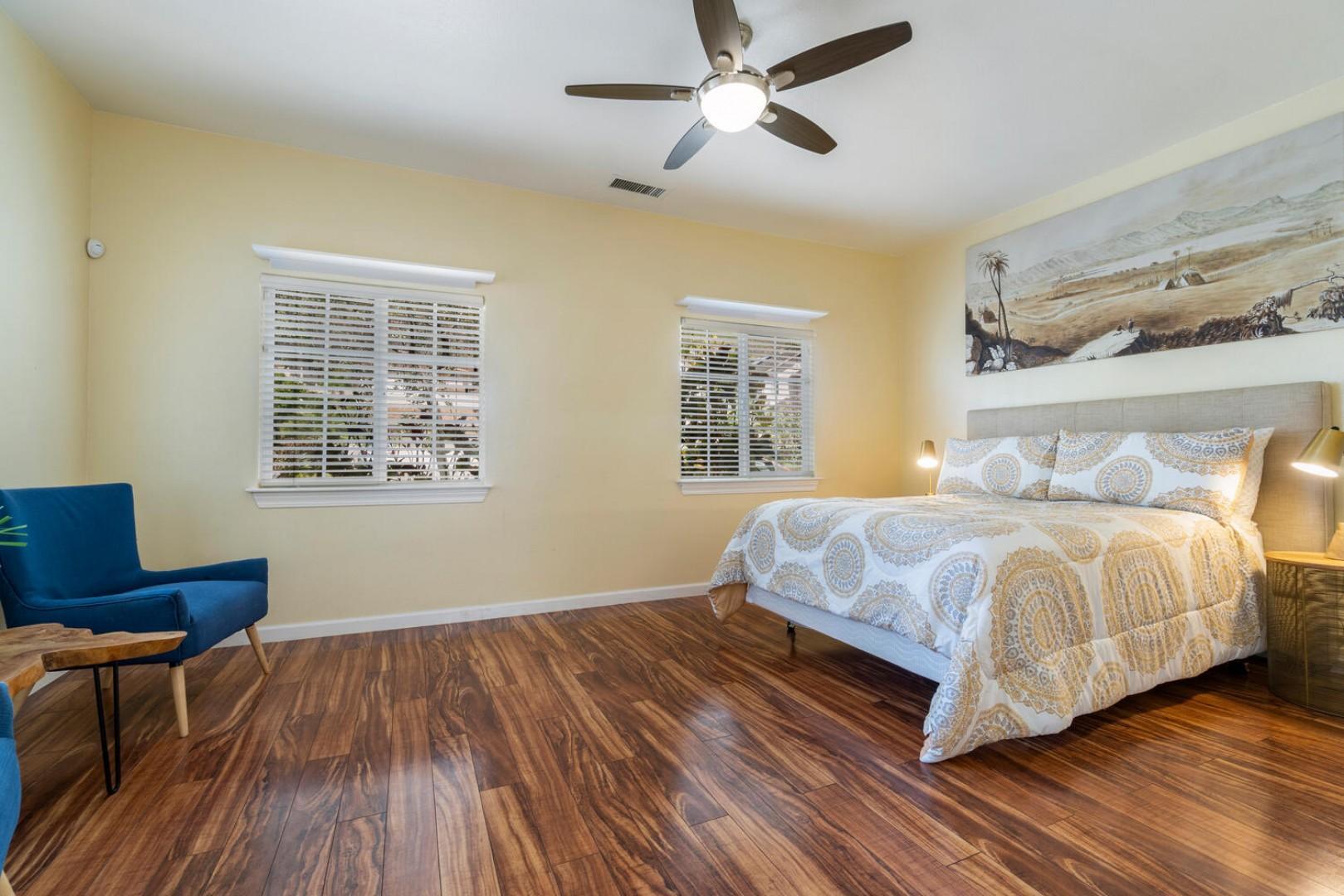 Main level bedroom, queen bed