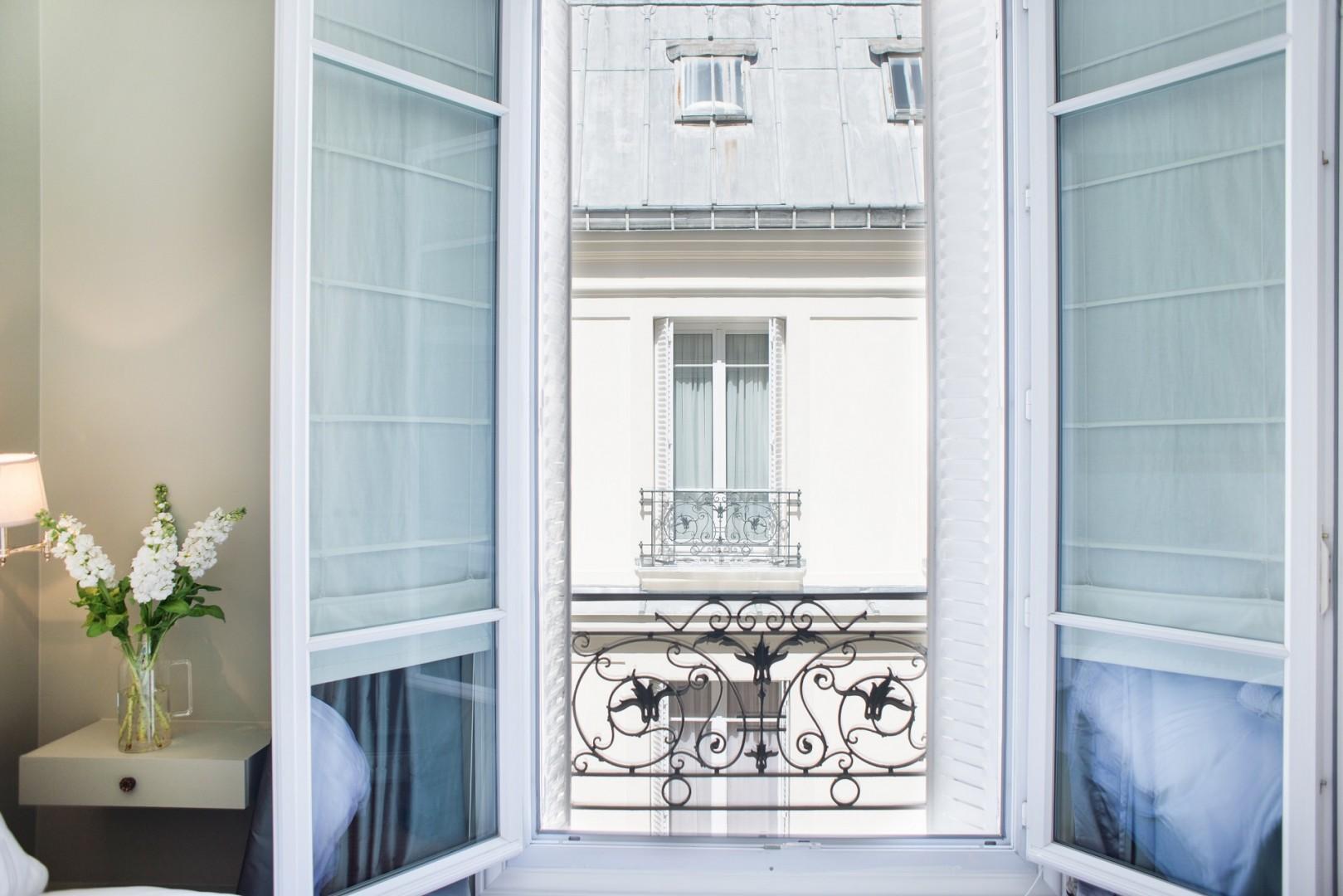 Enjoy the classic Haussmann-style building.