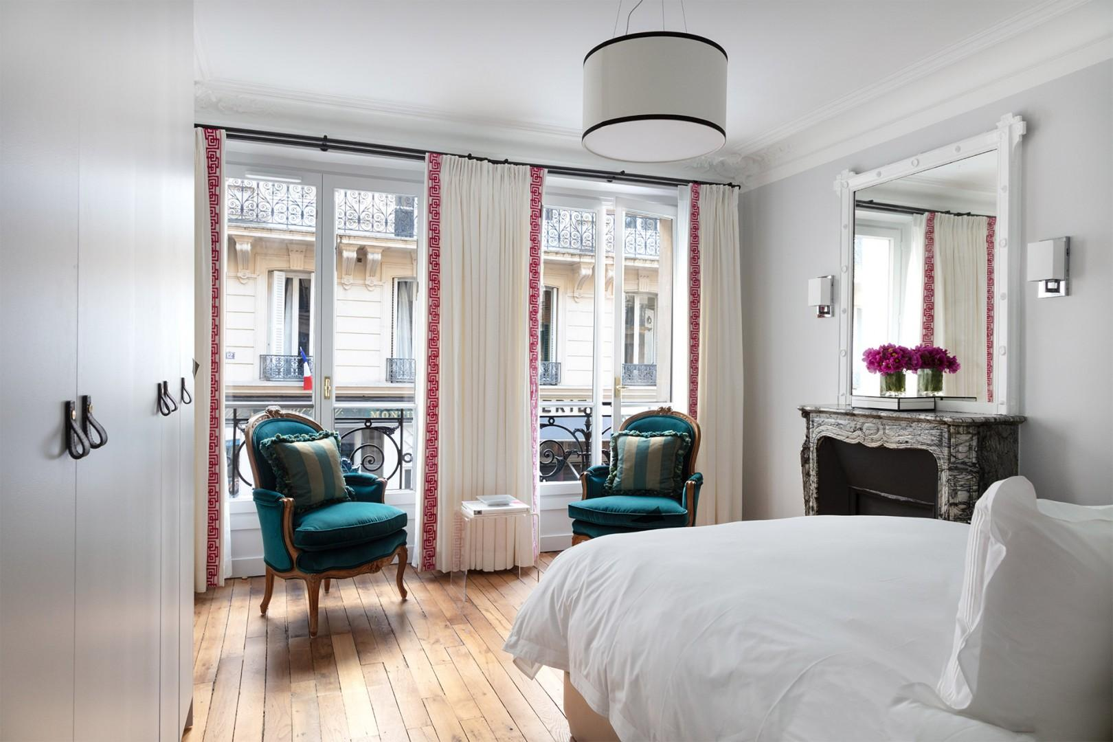 Enjoy the elegant seating area in bedroom 1.