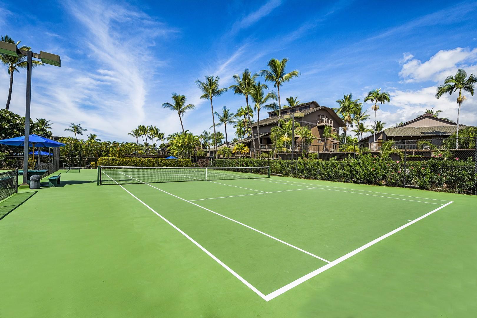 Tennis court at Kanaloa at Kona