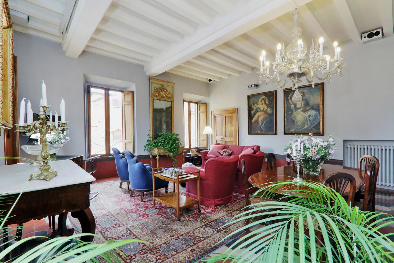 Large and comfortable living room will be your home-away-from-home while in Rome.