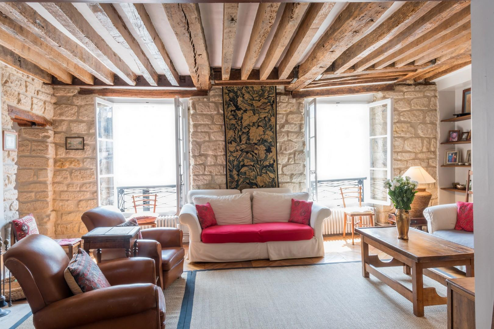 Spend relaxing evenings at home in this cozy Paris rental.