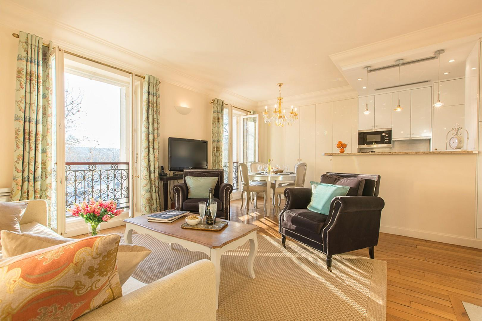 The space is richly decorated and comfortably furnished.