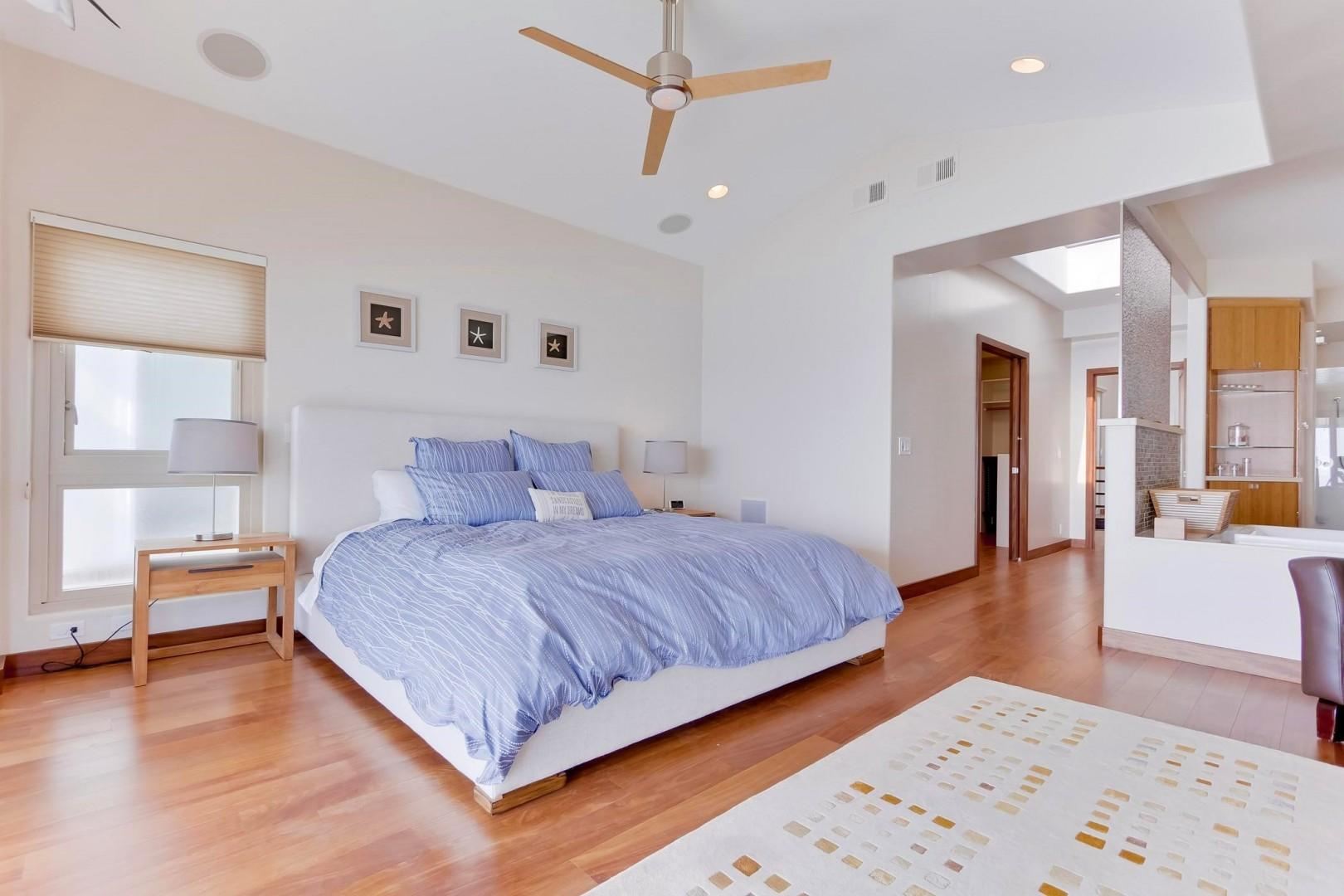 Master suite features a comfy king bed