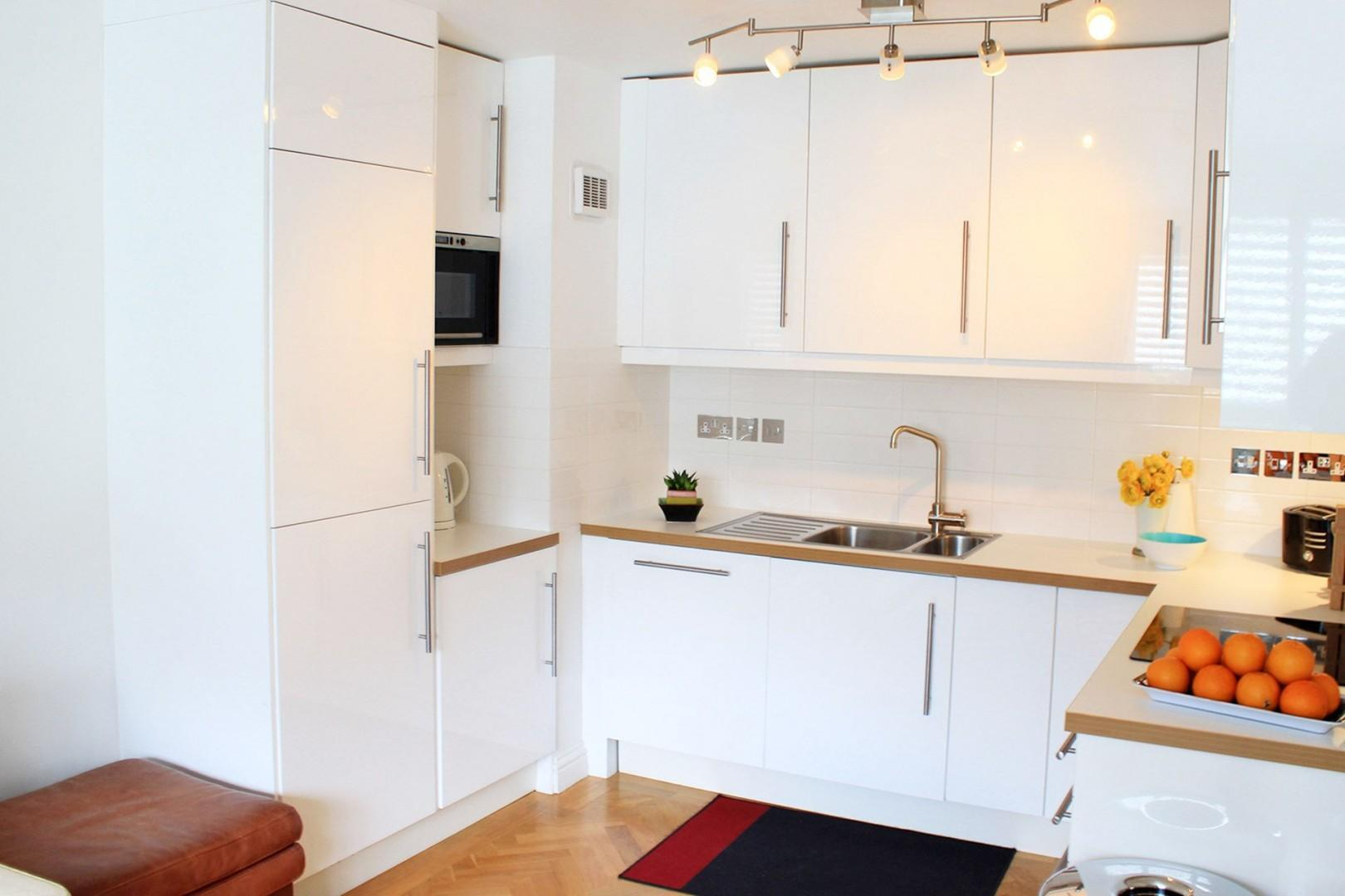 Fully equipped kitchen with every appliance you need
