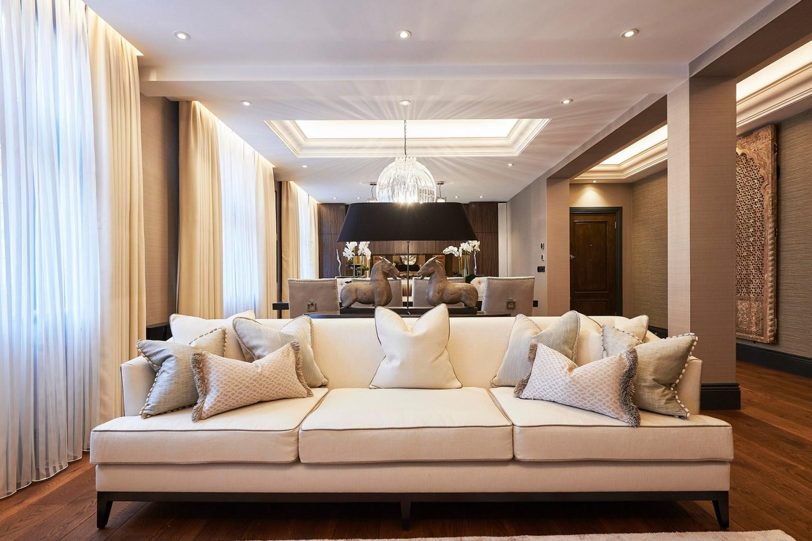 Soft furnishings and soothing warm tones
