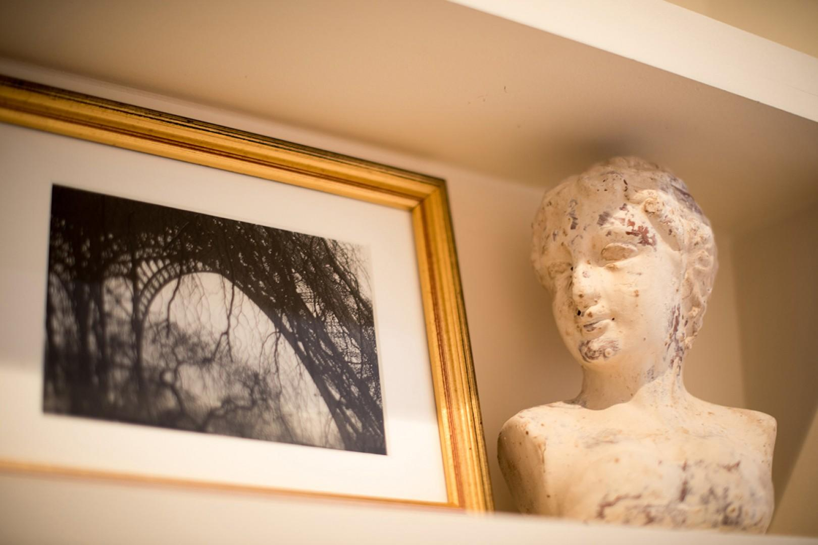 The space has been carefully designed and decorated with an artistic touch.